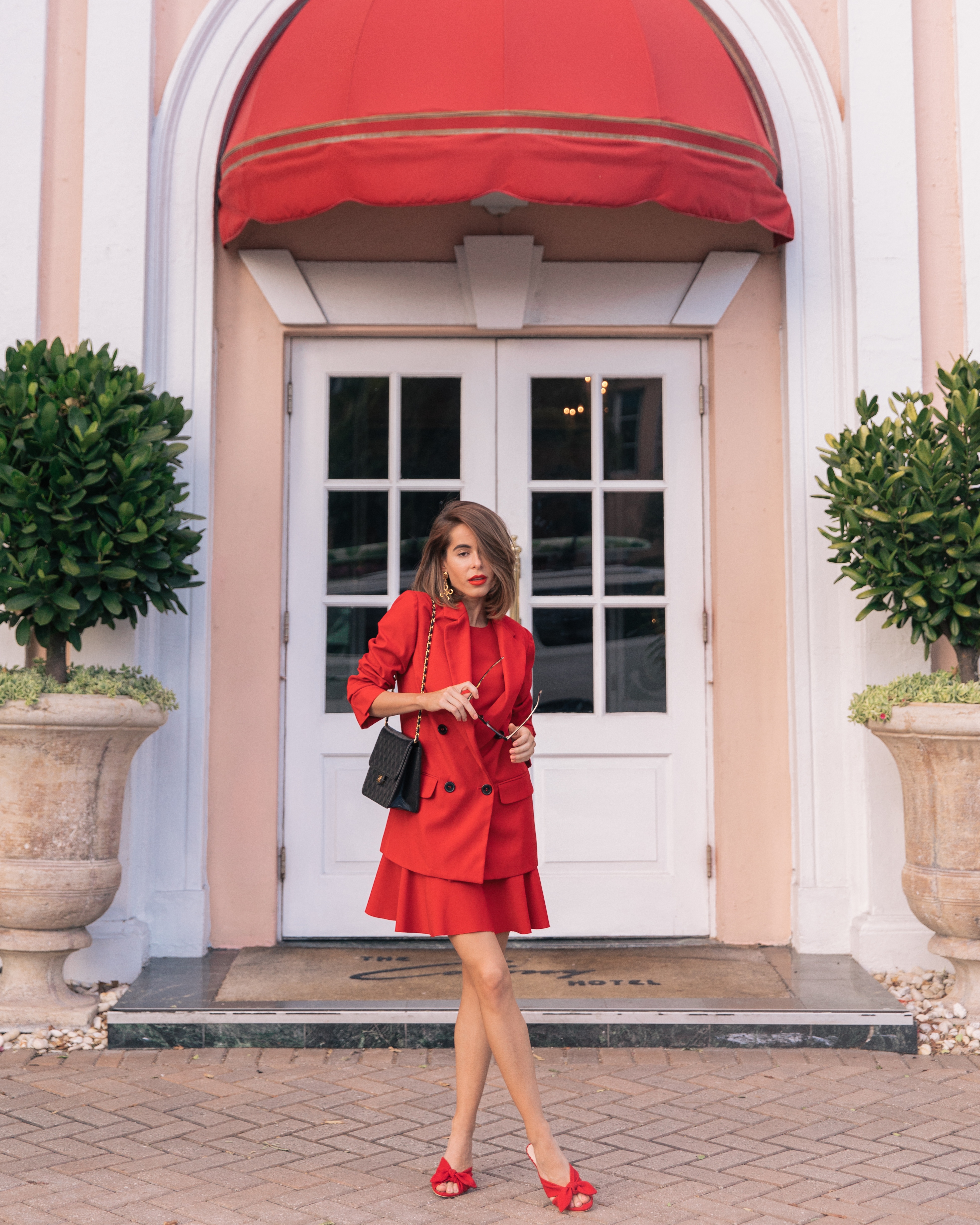 Stephanie Hill from The Style Bungalow wears an ootd featuring red and Chanel