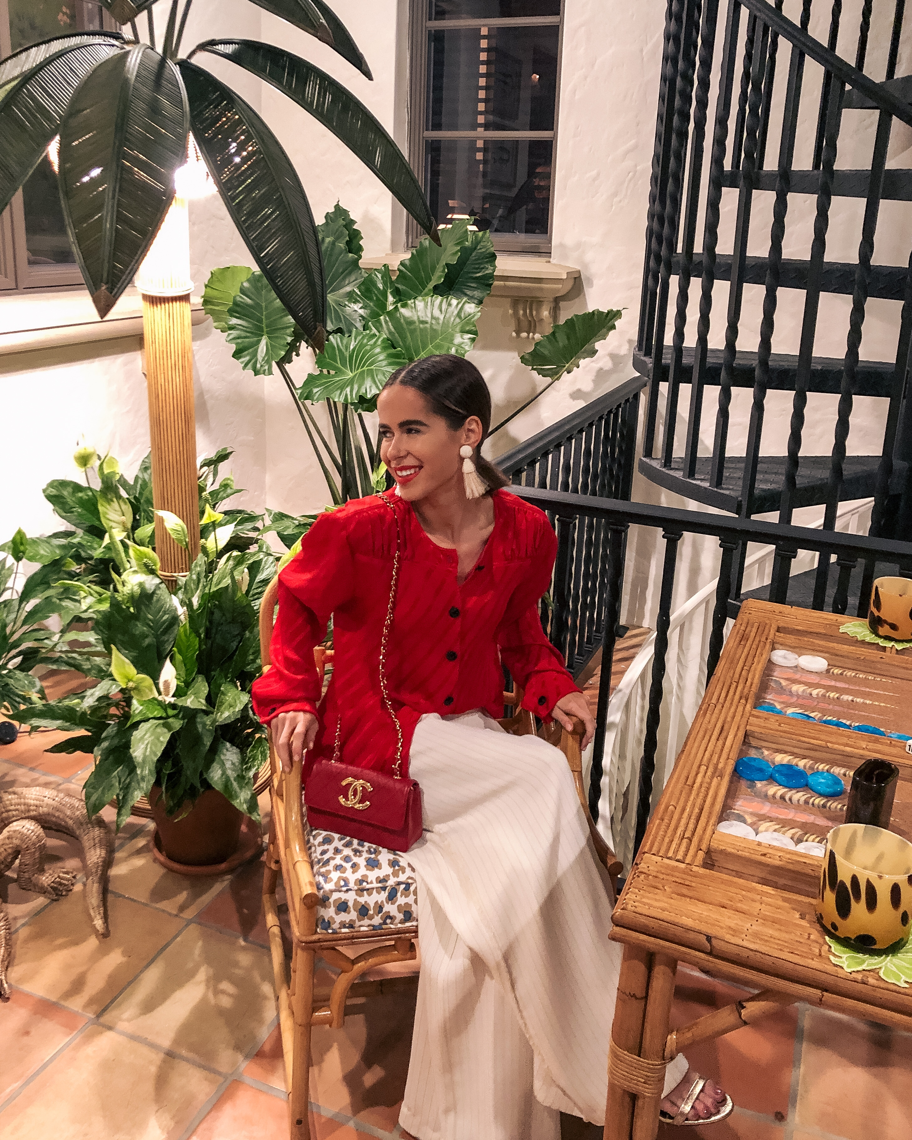 Style Blogger Stephanie Hill wears an ootd featuring vintage reds and Valentino