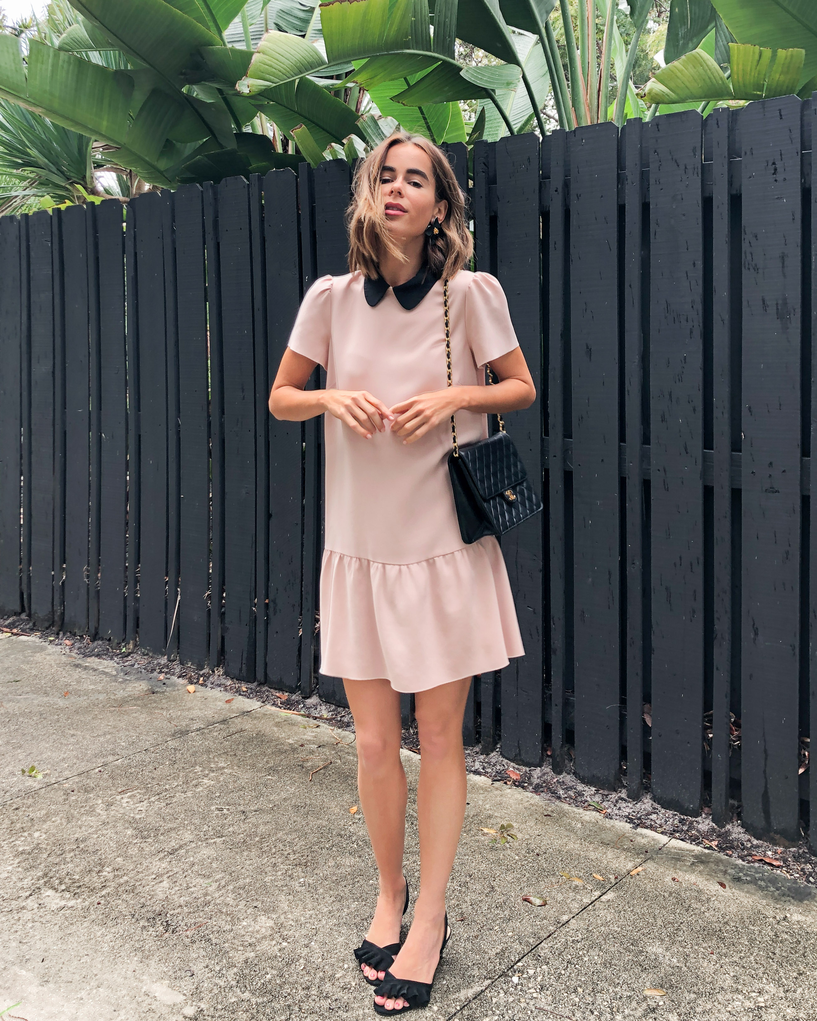 Stephanie Hill from The Style Bungalow wears an ootd featuring pink Valentino