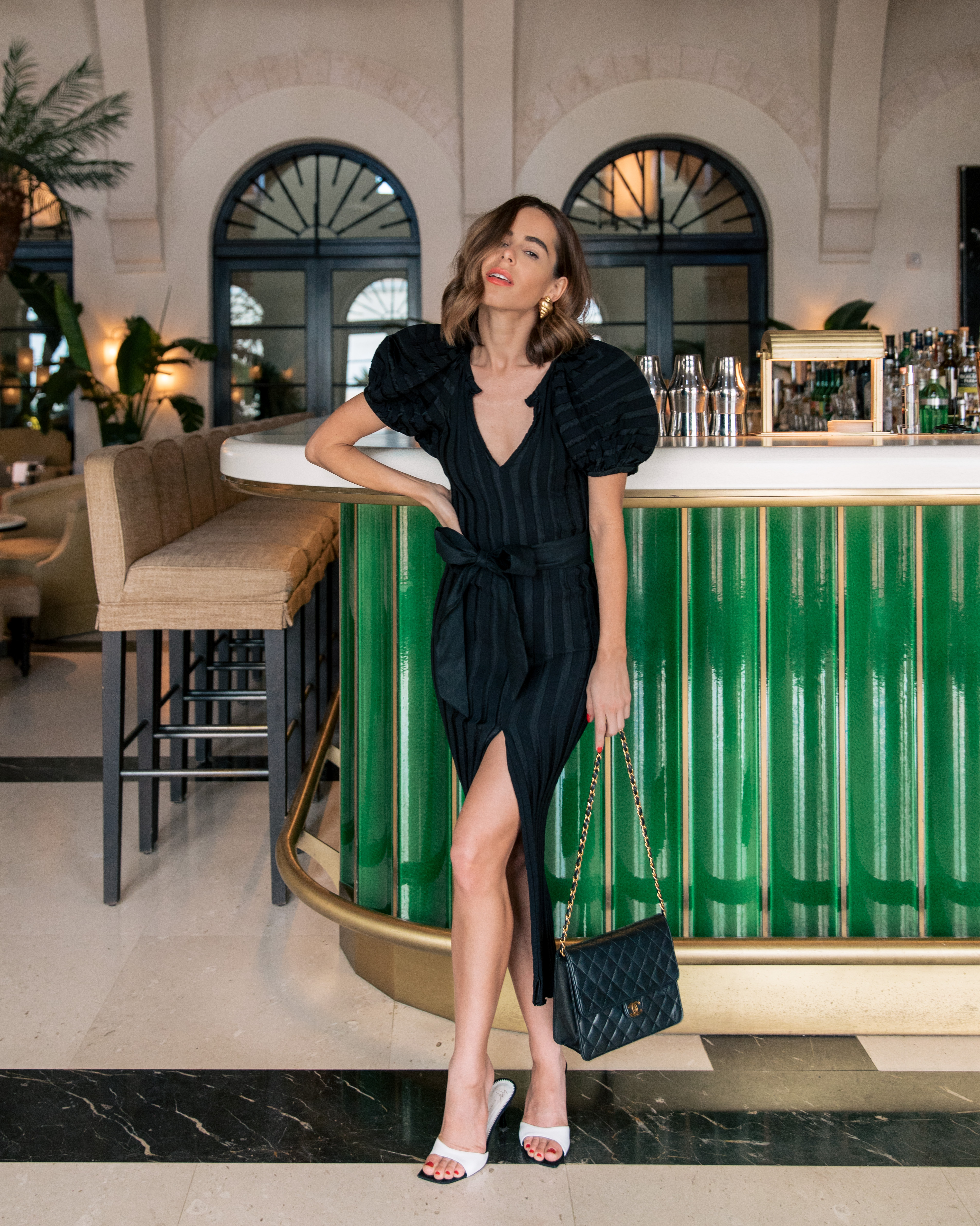 Stephanie Hill wears ootd featuring Martin Grant dress and vintage Chanel on The Style Bungalow