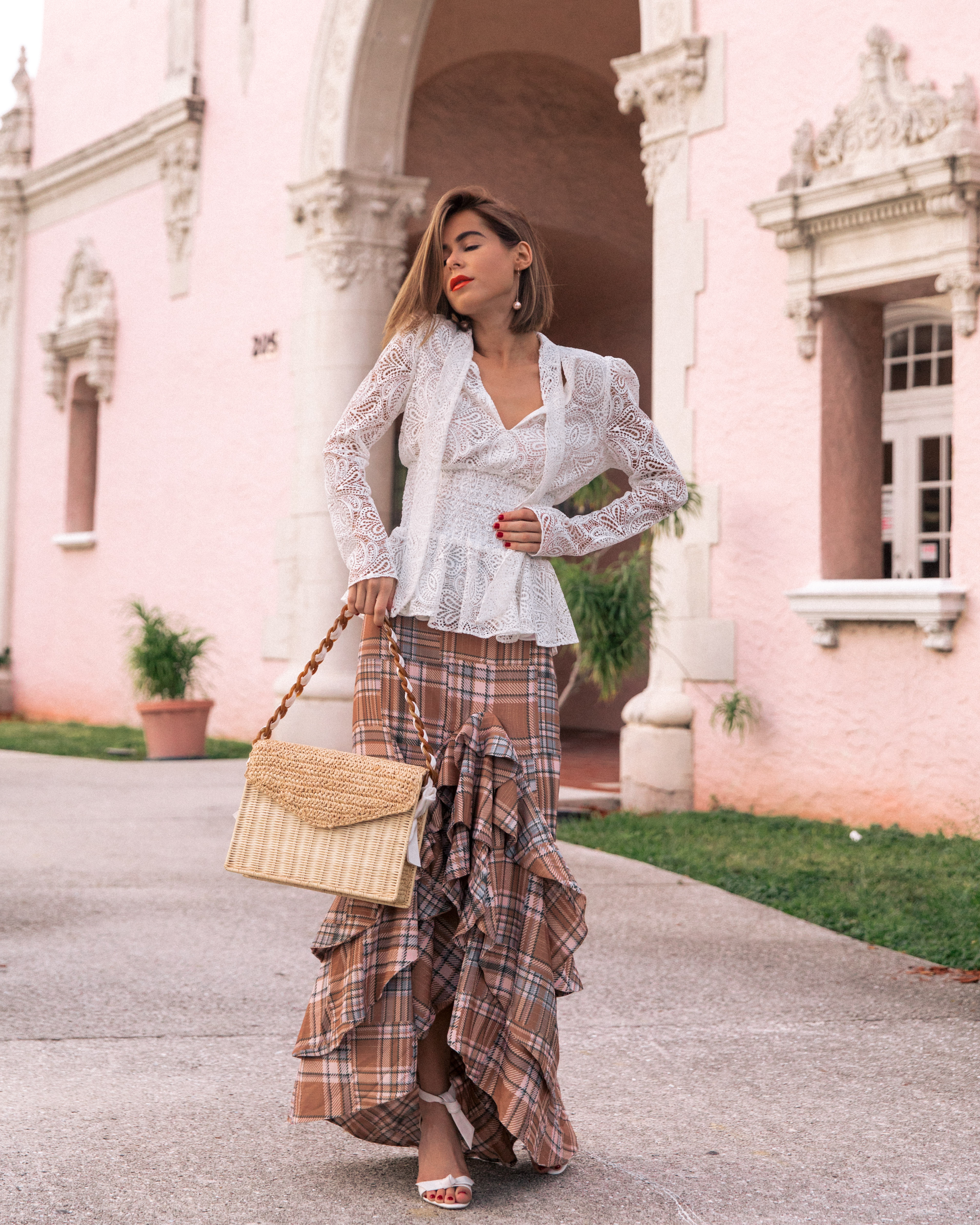 Stephanie Hill wears ootd featuring Maje, Patbo and more on The Style Bungalow