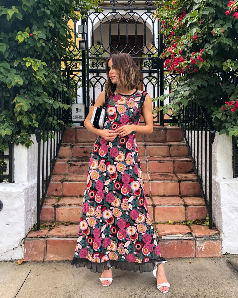 Stephanie Hill from The Style Bungalow wears Valentino dress for ootd