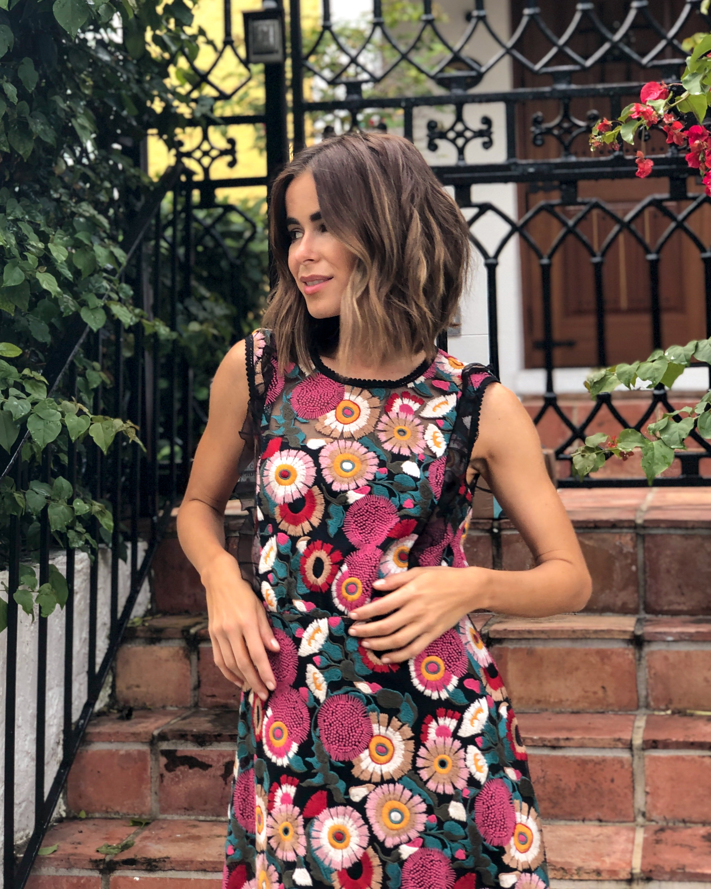 Style Blogger Stephanie Hill from The Style Bungalow wears an ootd featuring Valentino dress