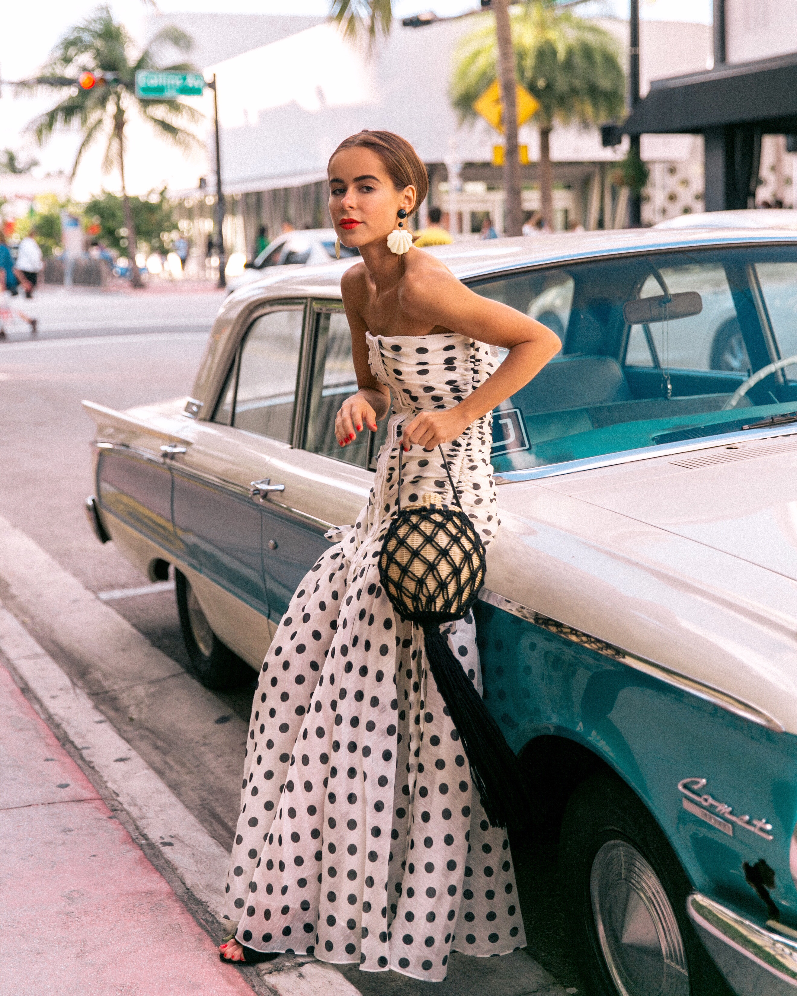 Style Blogger Stephanie Hill wears an ootd featuring Zimmerman dress in Miami