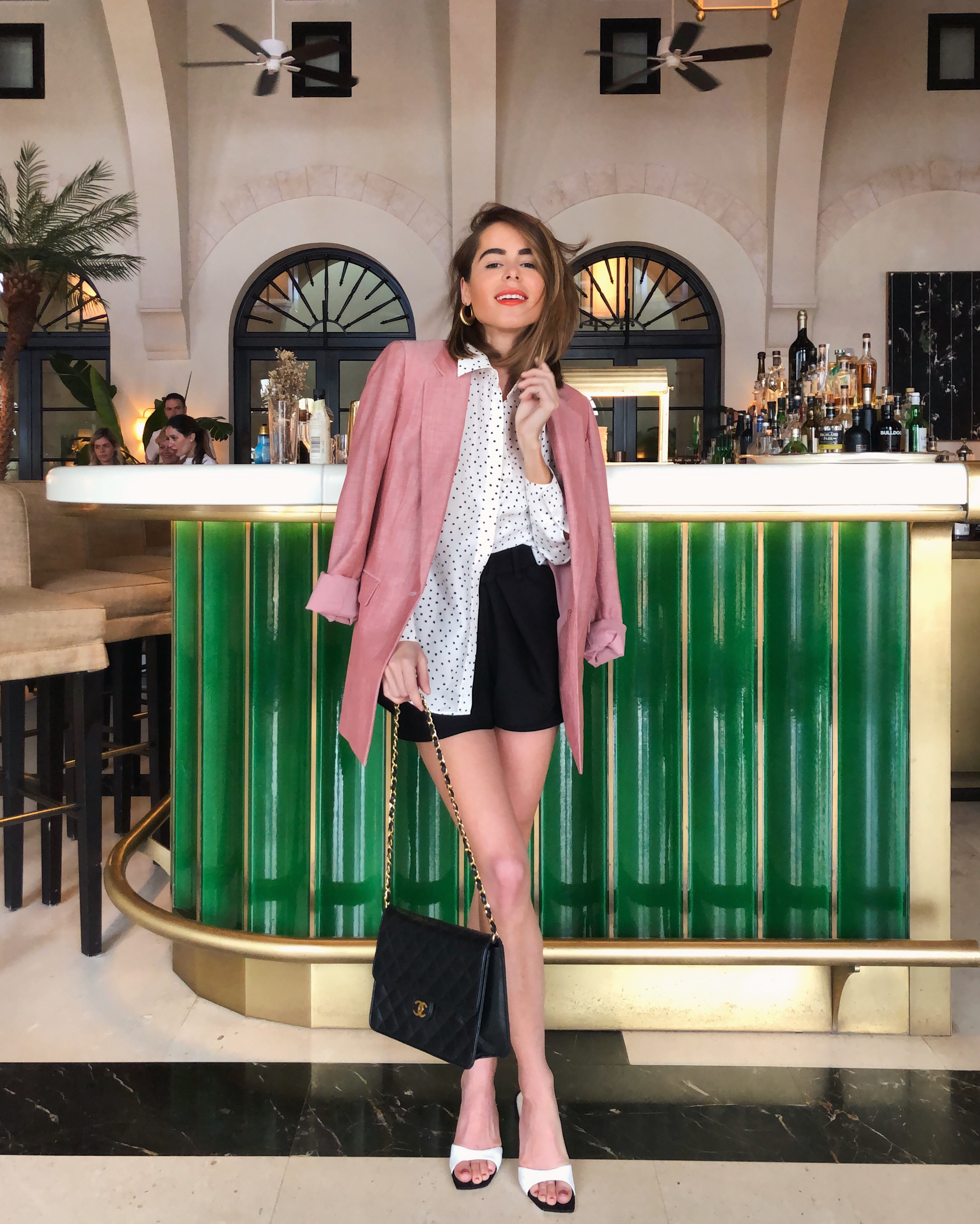 The Style Bungalow's Stephanie Hill wears an ootd featuring Maje, Chanel and more