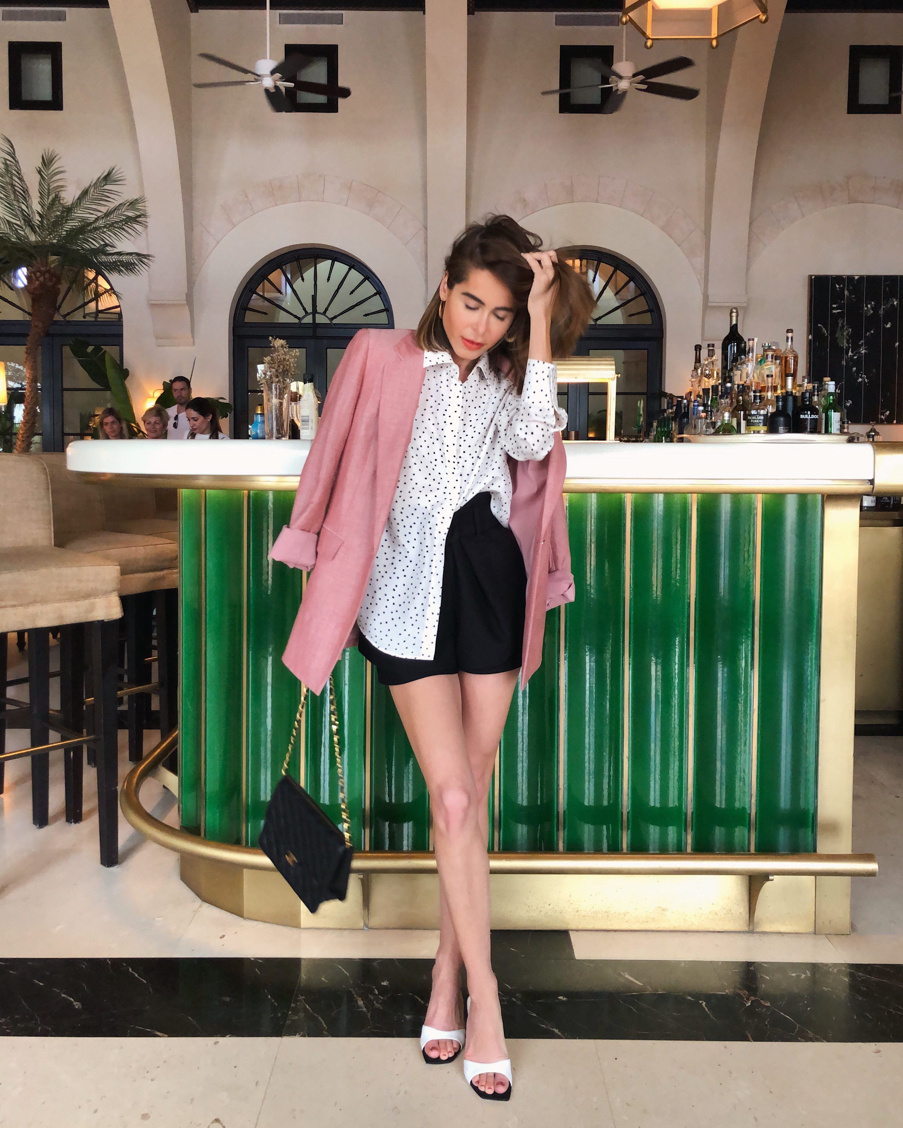 Stephanie Hill from The Style Bungalow wears an ootd featuring Maje, Chanel and more