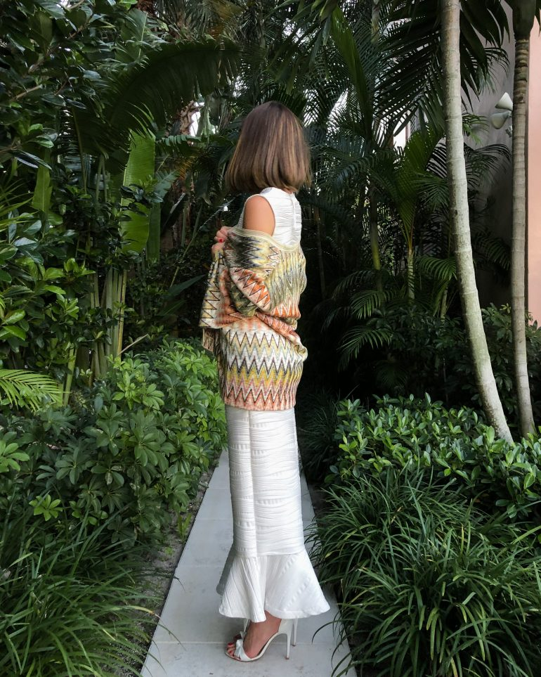 Stephanie Hill on The Style Bungalow wears ootd featuring Missoni cardigan