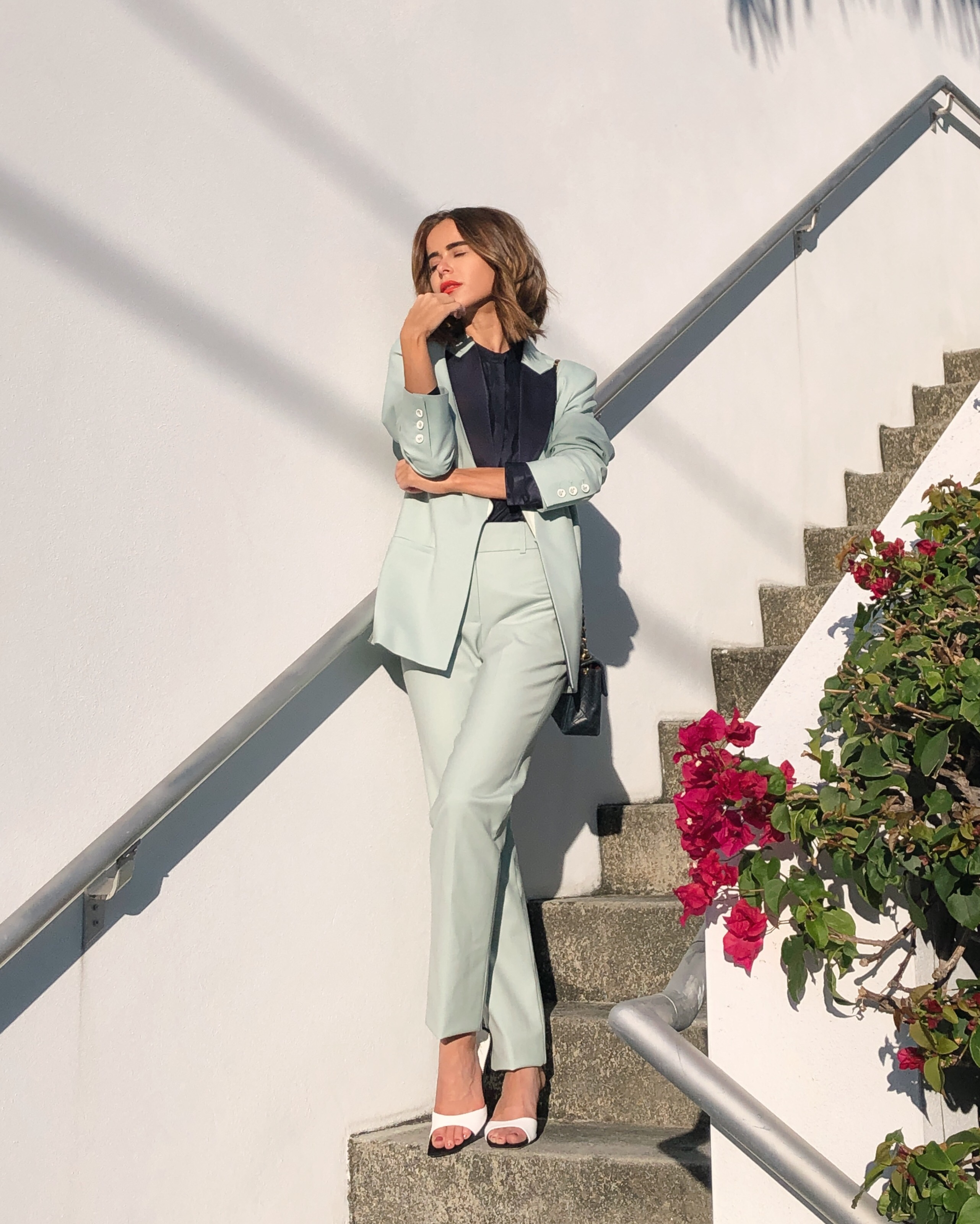 Stephanie Hill from The Style Bungalow wears an ootd featuring Victoria by Victoria Beckham
