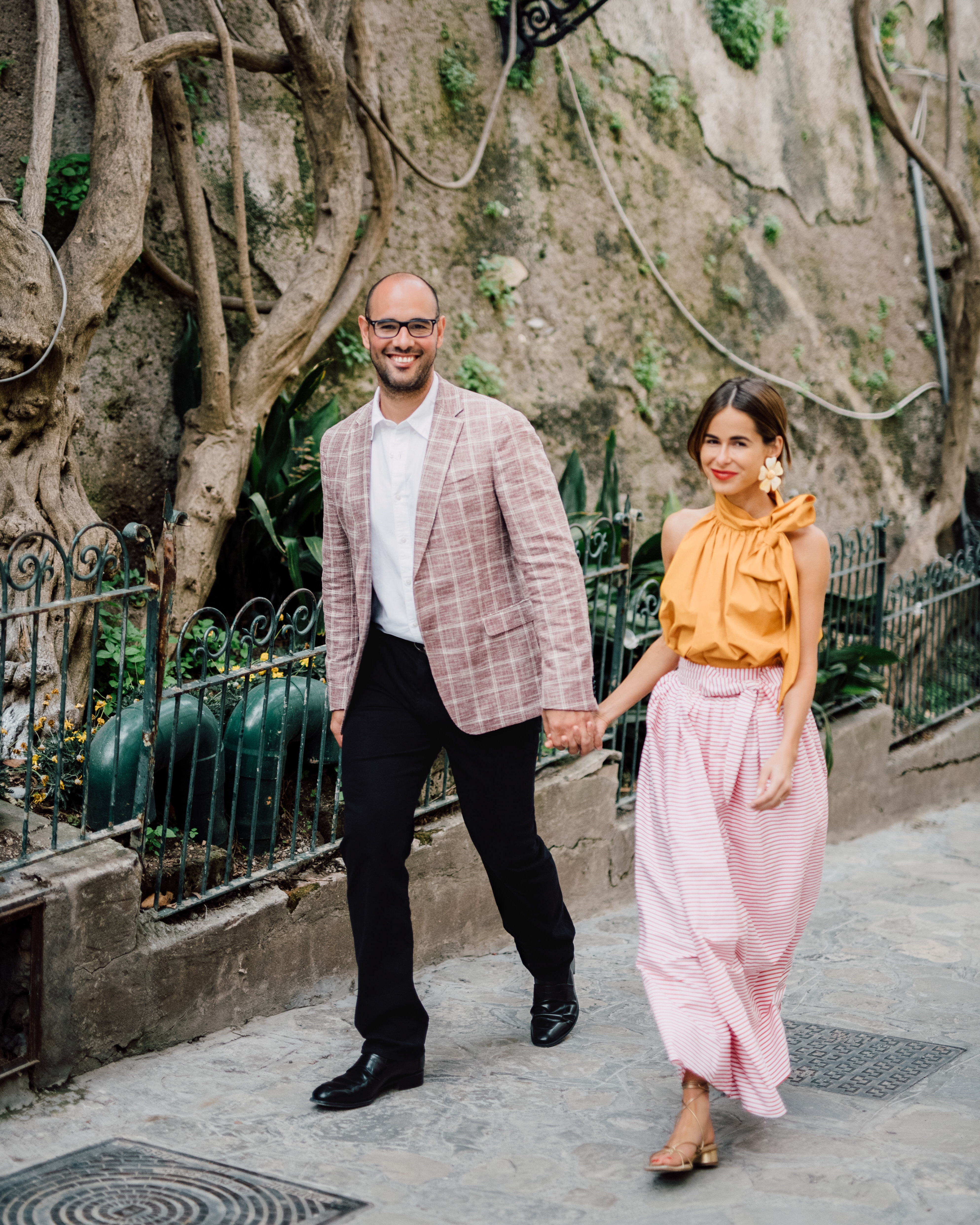 Stephanie Hill wears ootd featuring Silvia Tcherassi orange blouse engaged on The Style Bungalow