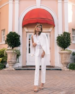 Fashion Blogger Stephanie Hill from The Style Bungalow features Ann Taylor Summer Whites