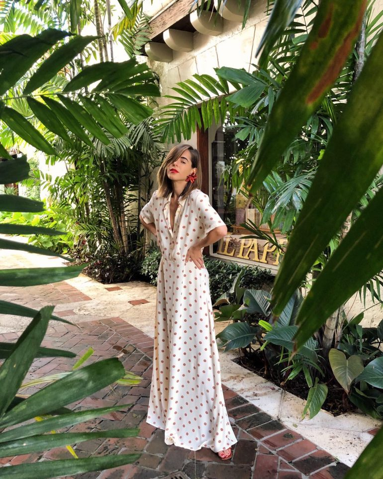 Stephanie Hill from The Style Bungalow wears ootd featuring Zara dress and Miista sandals