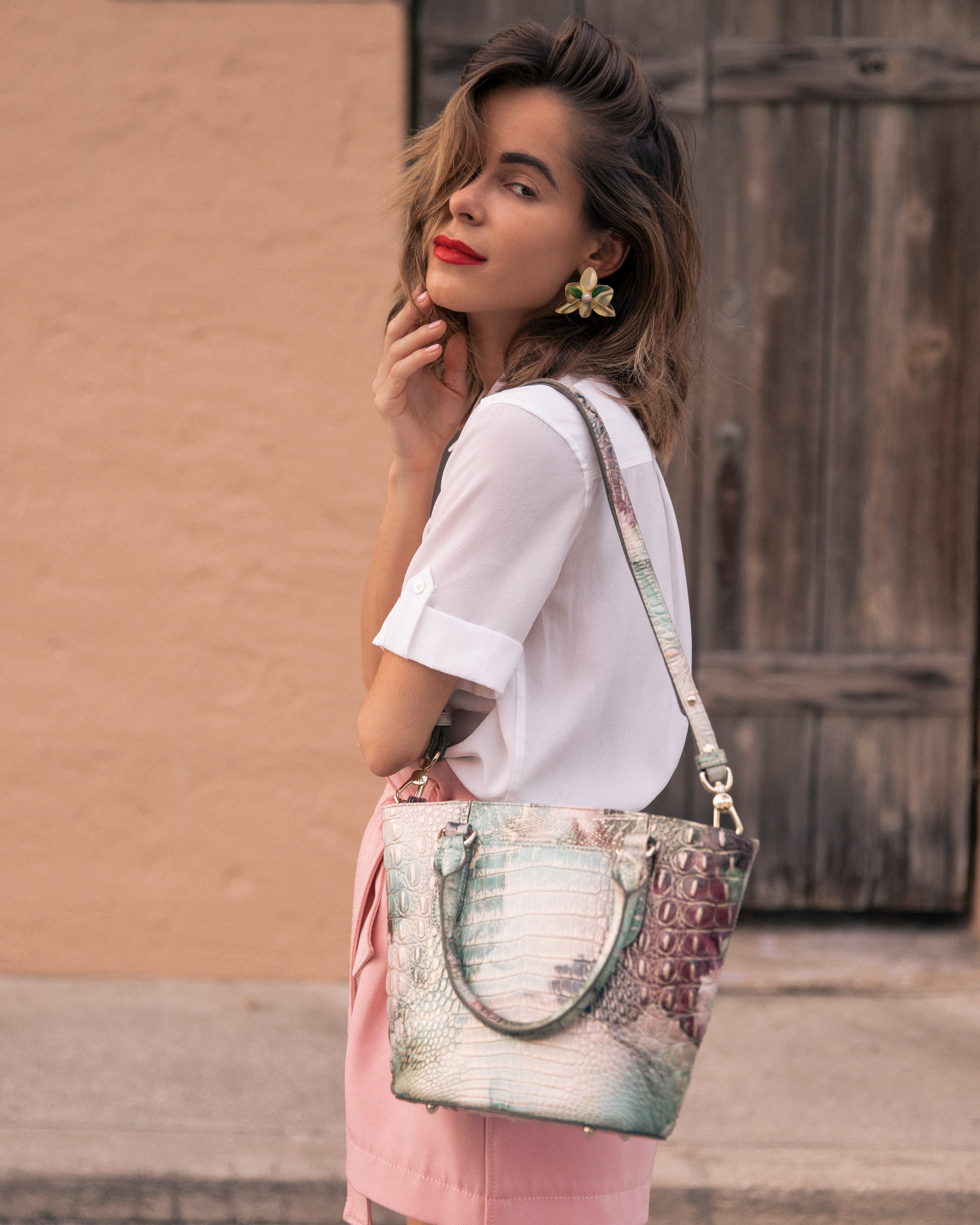Style Blogger Stephanie Hill from The Style Bungalow featuring her Most Used Handbag Brand of 2019