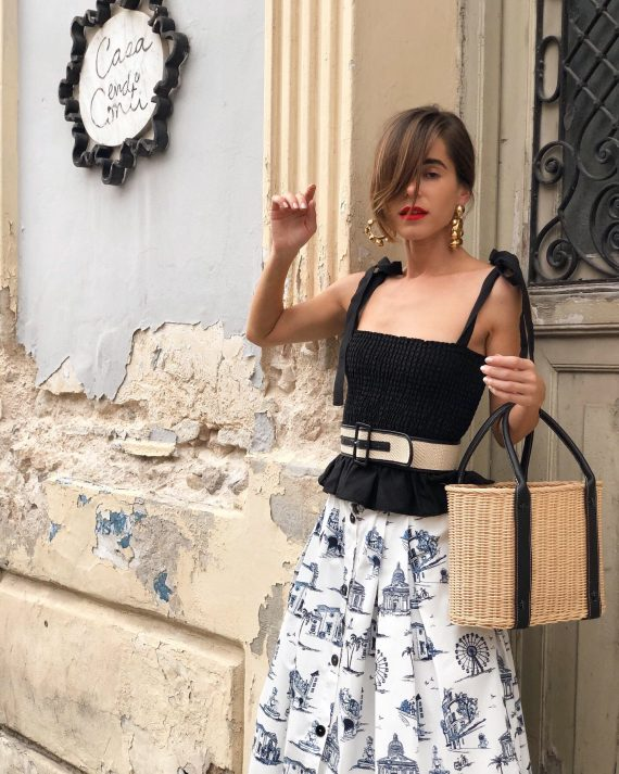Fashion Blogger Stephanie Hill from The Style Bungalow wears ootd featuring Maje Skirt