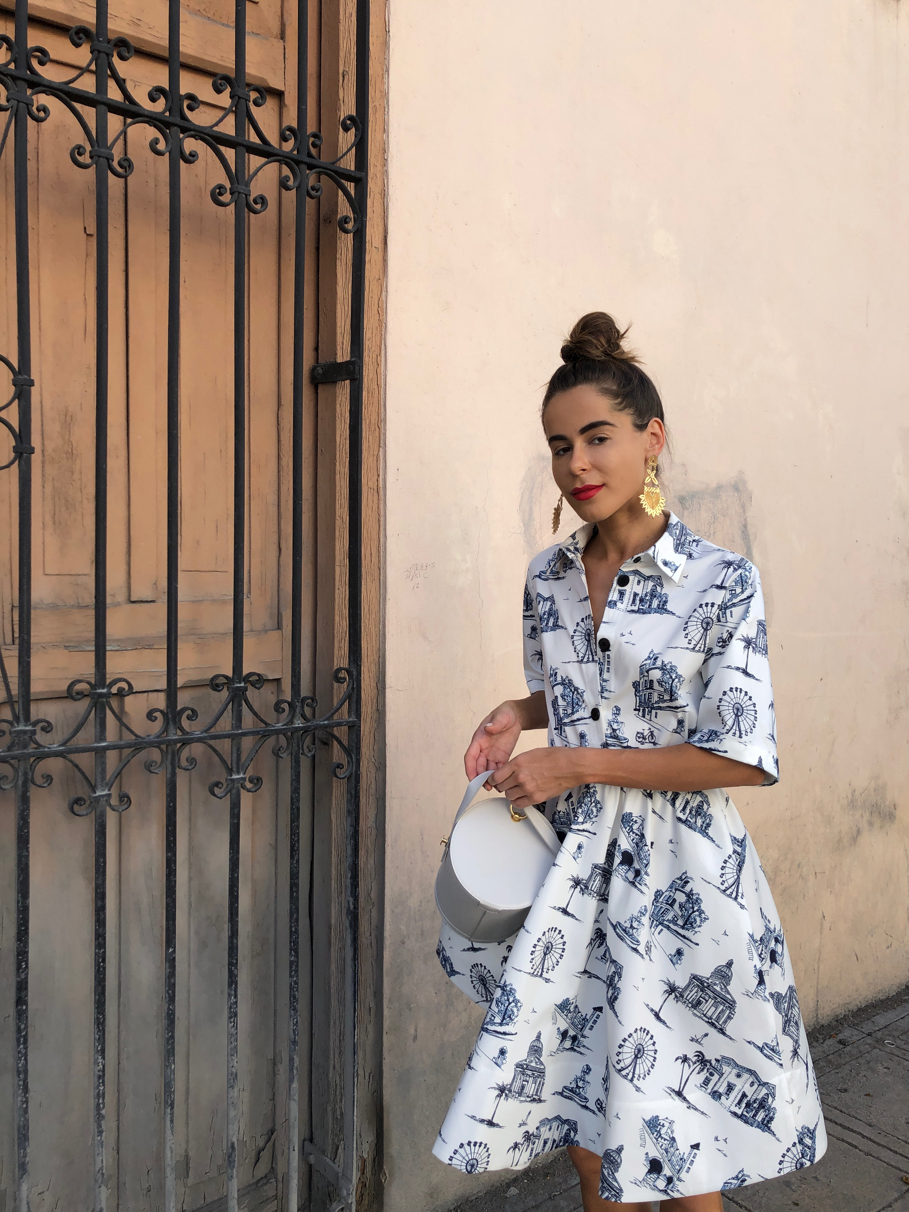 Fashion Blogger Stephanie Hill from The Style Bungalow wears ootd featuring Maje dress