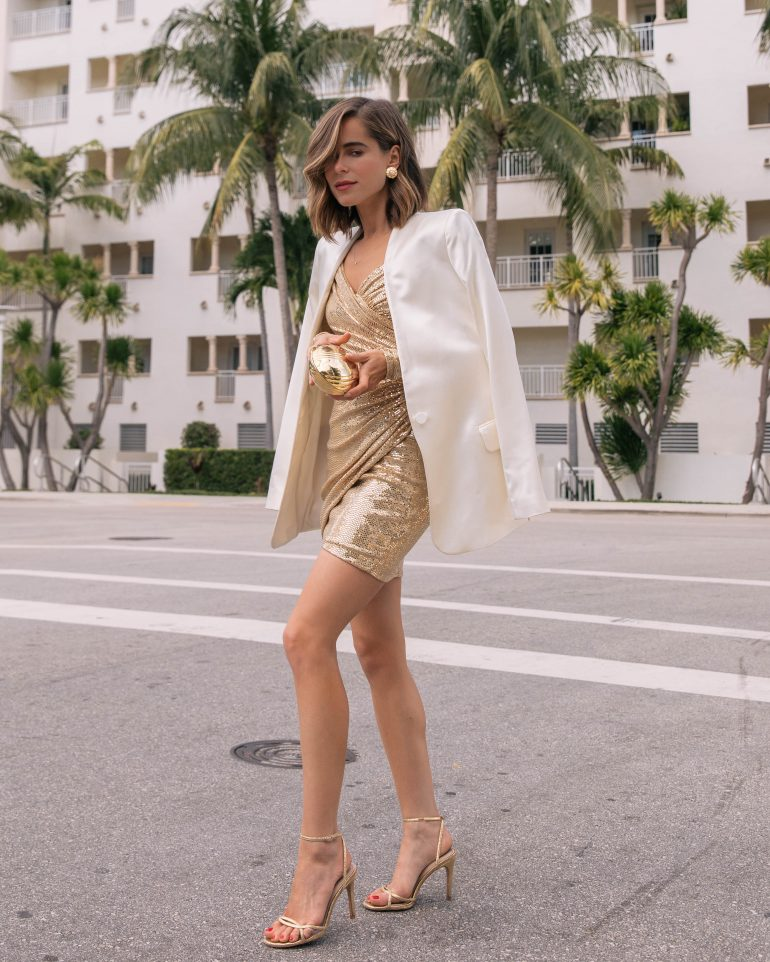 Stephanie Hill shares today's #OOTD wearing a BCBG cocktail dress on The Style Bungalow