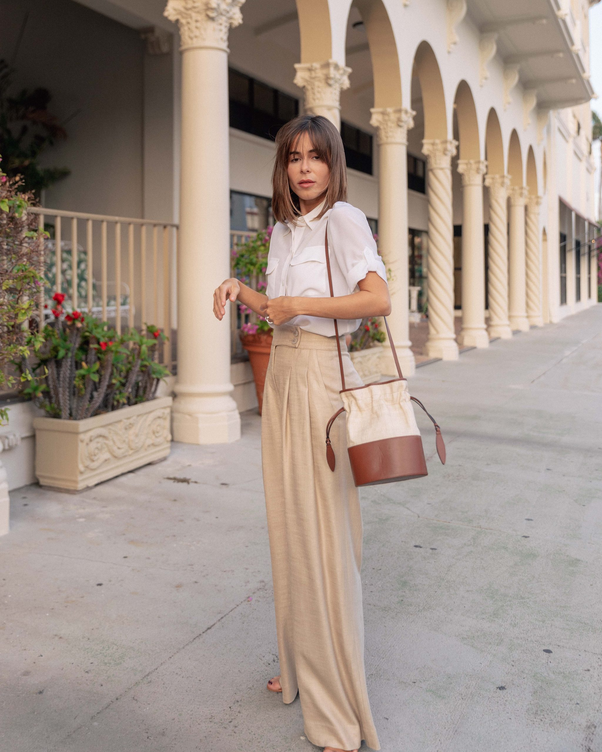 Fashion Blogger Stephanie Hill wears #ootd featuring Equipment blouse on The Style Bungalow