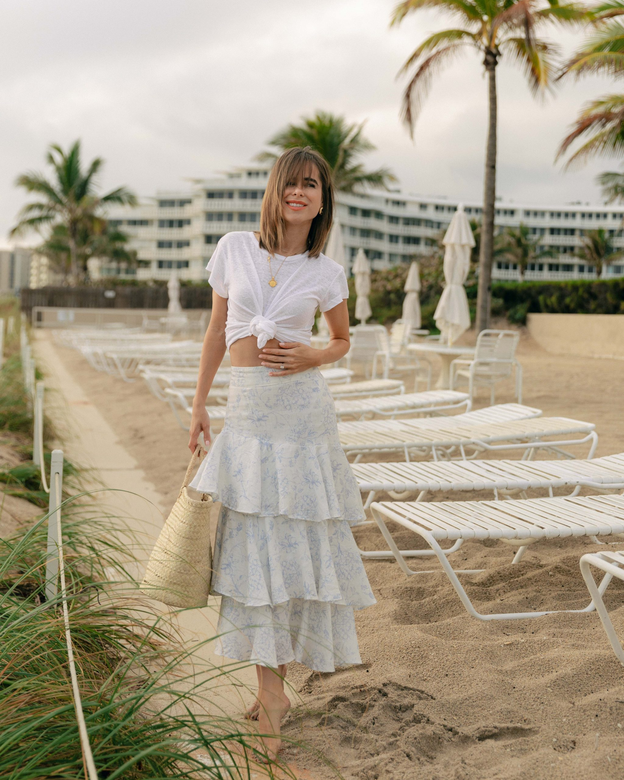 Fashion Blogger Stephanie Hill wears #ootd featuring Palm Noosa on The Style Bungalow