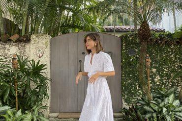 Stephanie Hill wears Palm Noosa dress on Style Bungalow #OOTD