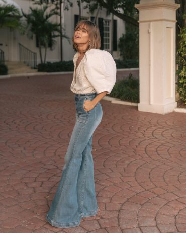Stephanie Hill wears Iorane Bodysuit on The Style Bungalow #OOTD