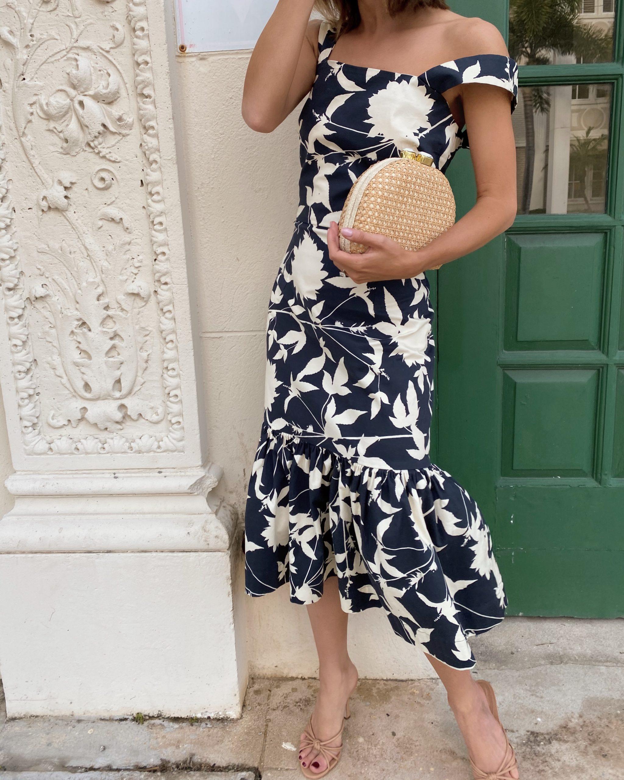 Stephanie Hill wears #ootd featuring Oscar de la Renta dress on The Style Bungalow
