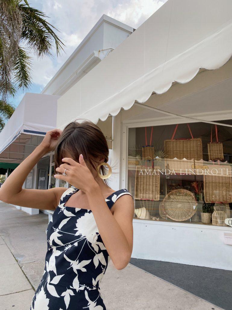 Style Blogger Stephanie Hill wears #ootd featuring Oscar de la Renta dress on The Style Bungalow