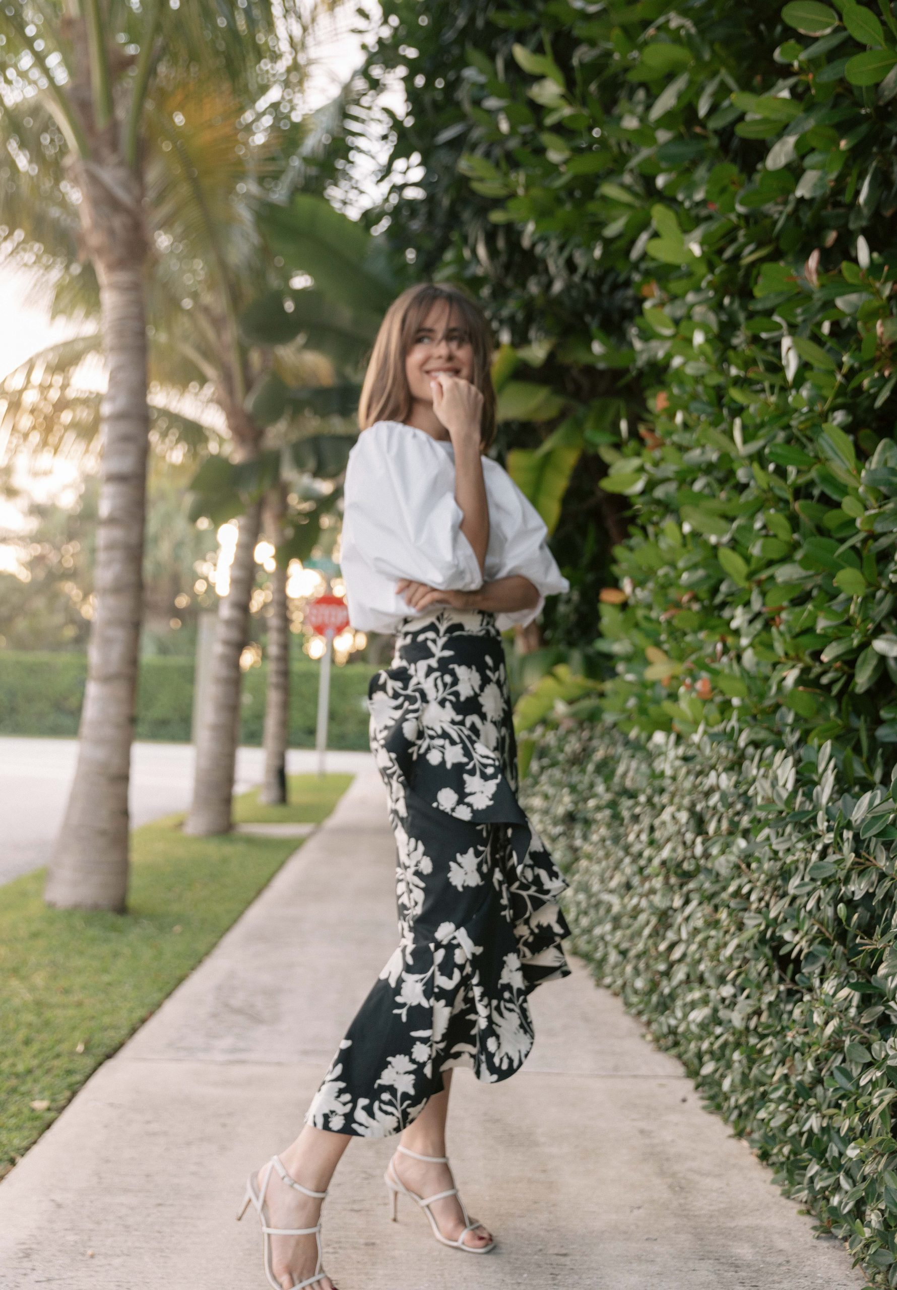 Stephanie Hill wears Johanna Ortiz x H&M on The Style Bungalow