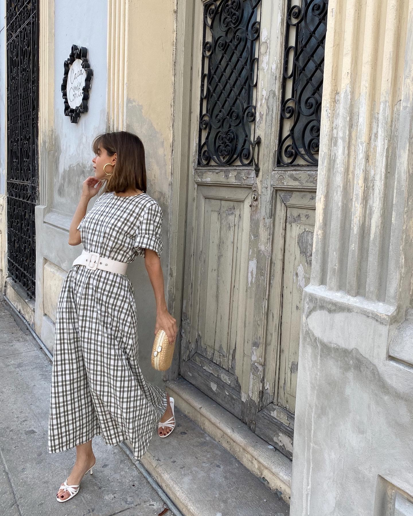 Fashion Blogger Stephanie Hill wears #ootd featuring Zara dress on The Style Bungalow