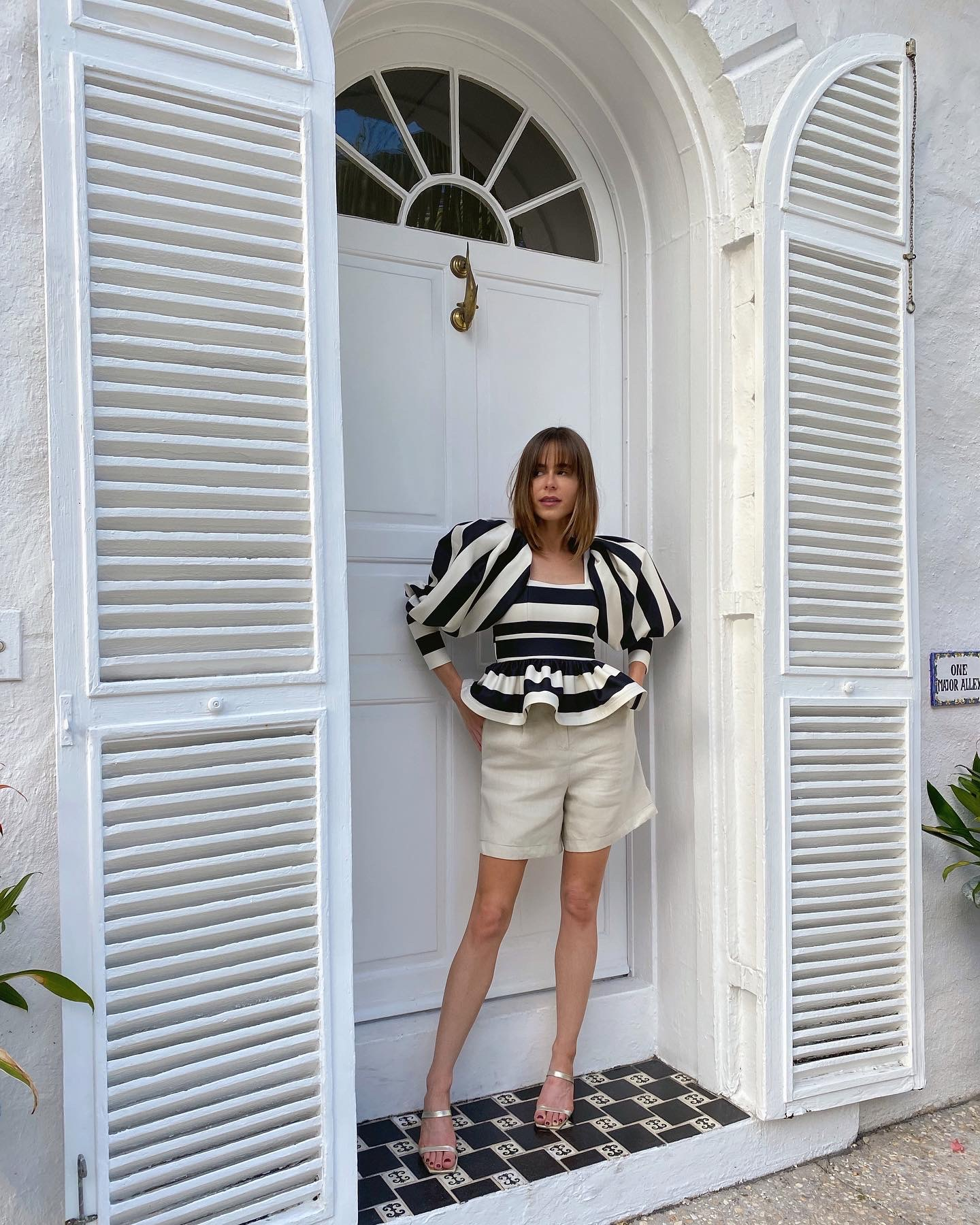 Stephanie Hill wears an #ootd featuring a blouse by Eugenia Fernandez on The Style Bungalow