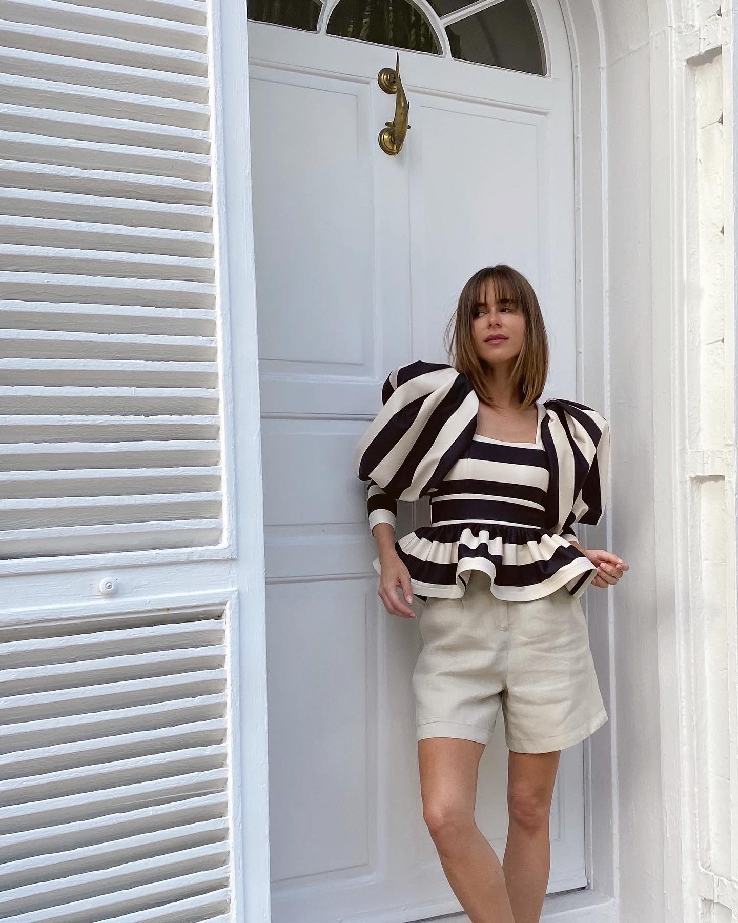 Style Blogger Stephanie Hill wears an #ootd featuring a blouse by Eugenia Fernandez on The Style Bungalow
