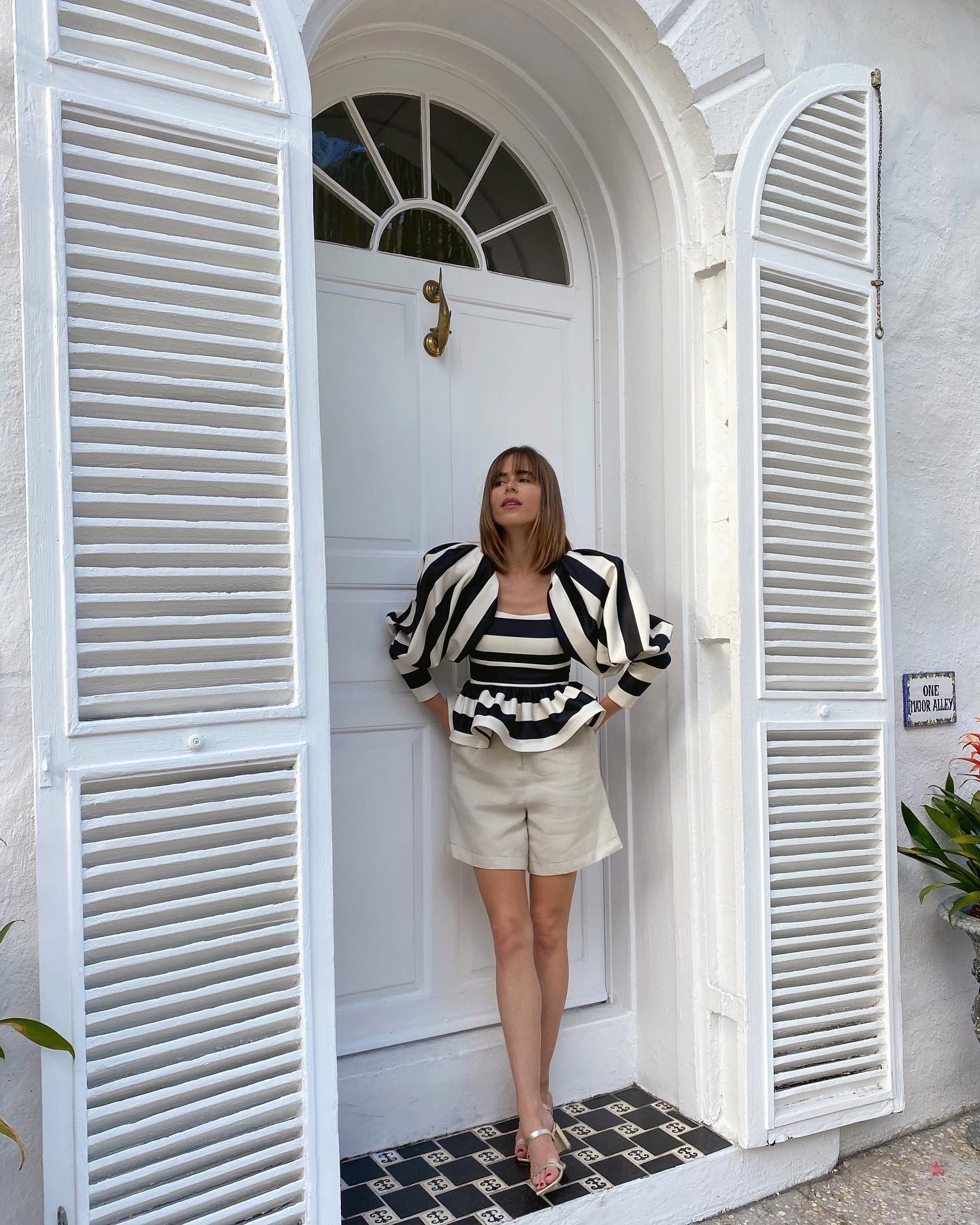 Lifestyle Blogger Stephanie Hill wears an #ootd featuring a blouse by Eugenia Fernandez on The Style Bungalow