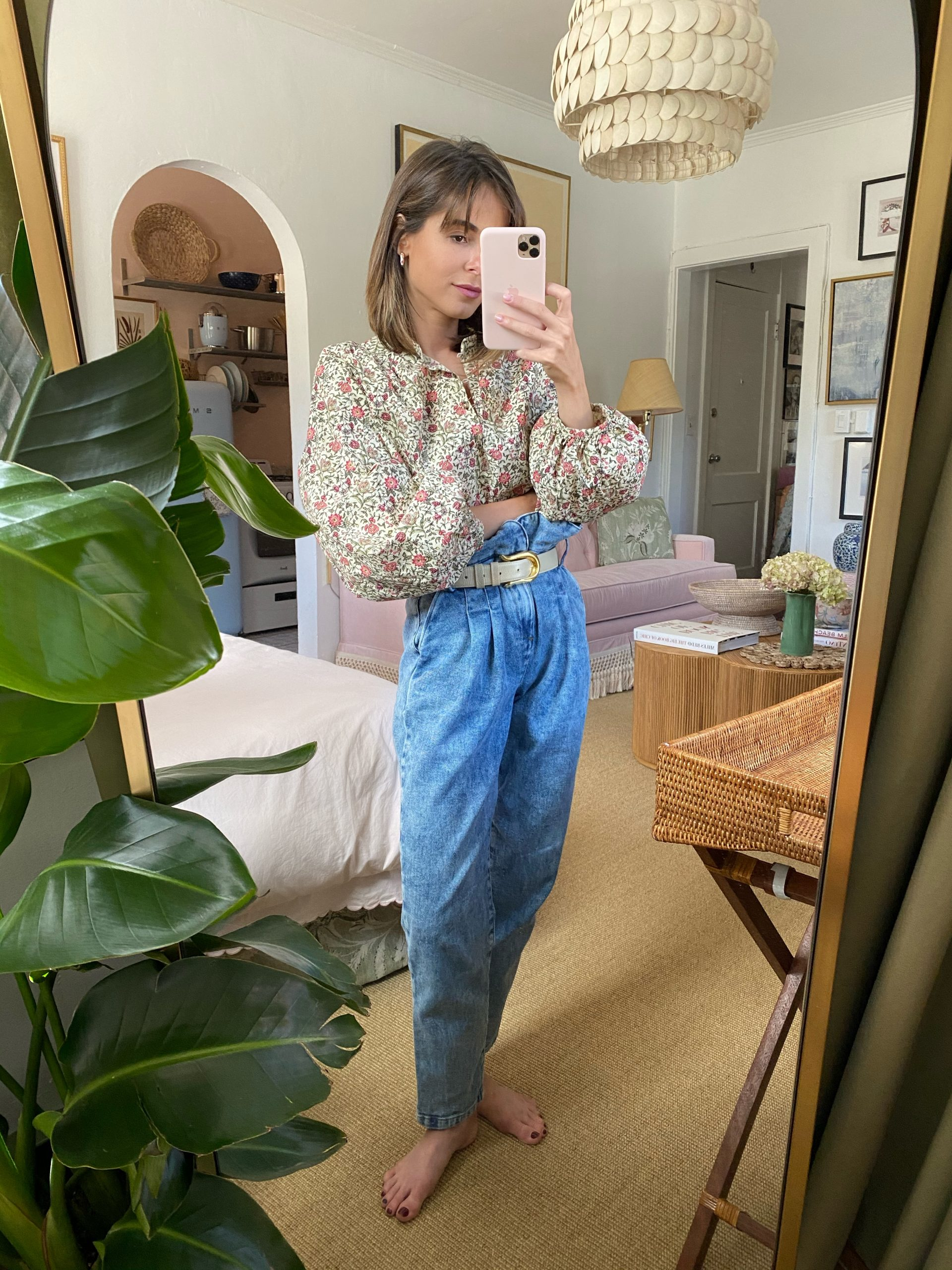 Lifestyle Blogger Stephanie Hill wears #ootd featuring Sezane jeans on The Style Bungalow