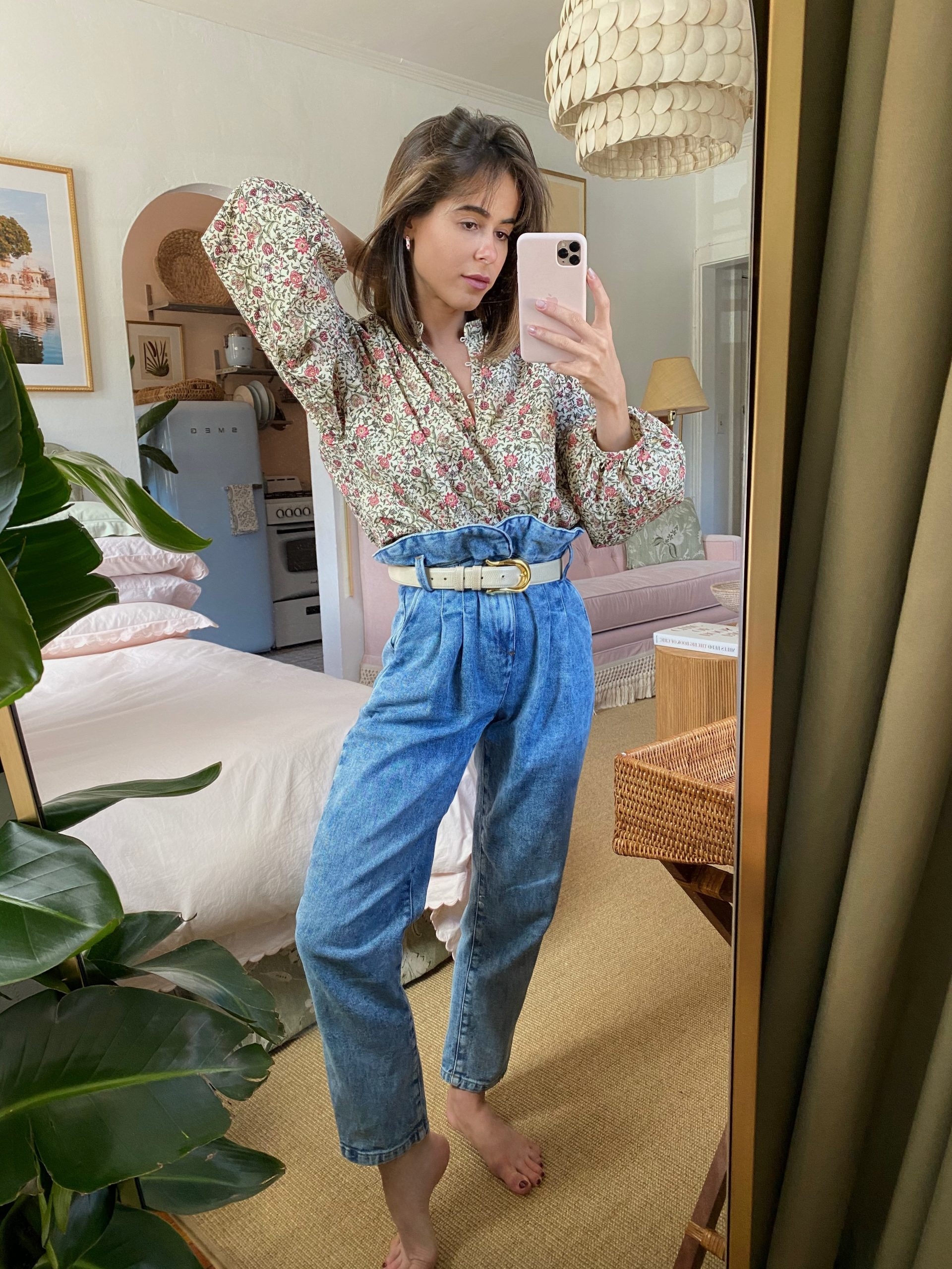 Stephanie Hill wears #ootd featuring Sezane jeans on The Style Bungalow