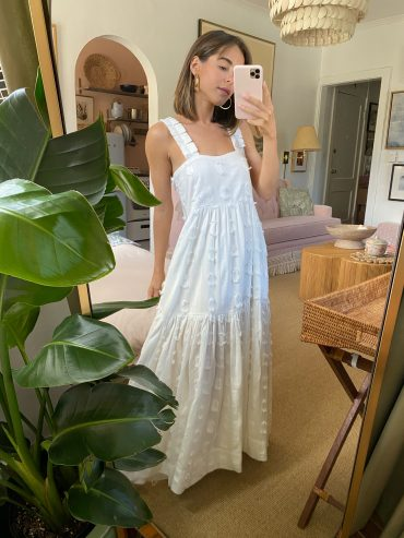 Stephanie Hill wears dress by Mirth x Goop Collection on The Style Bungalow