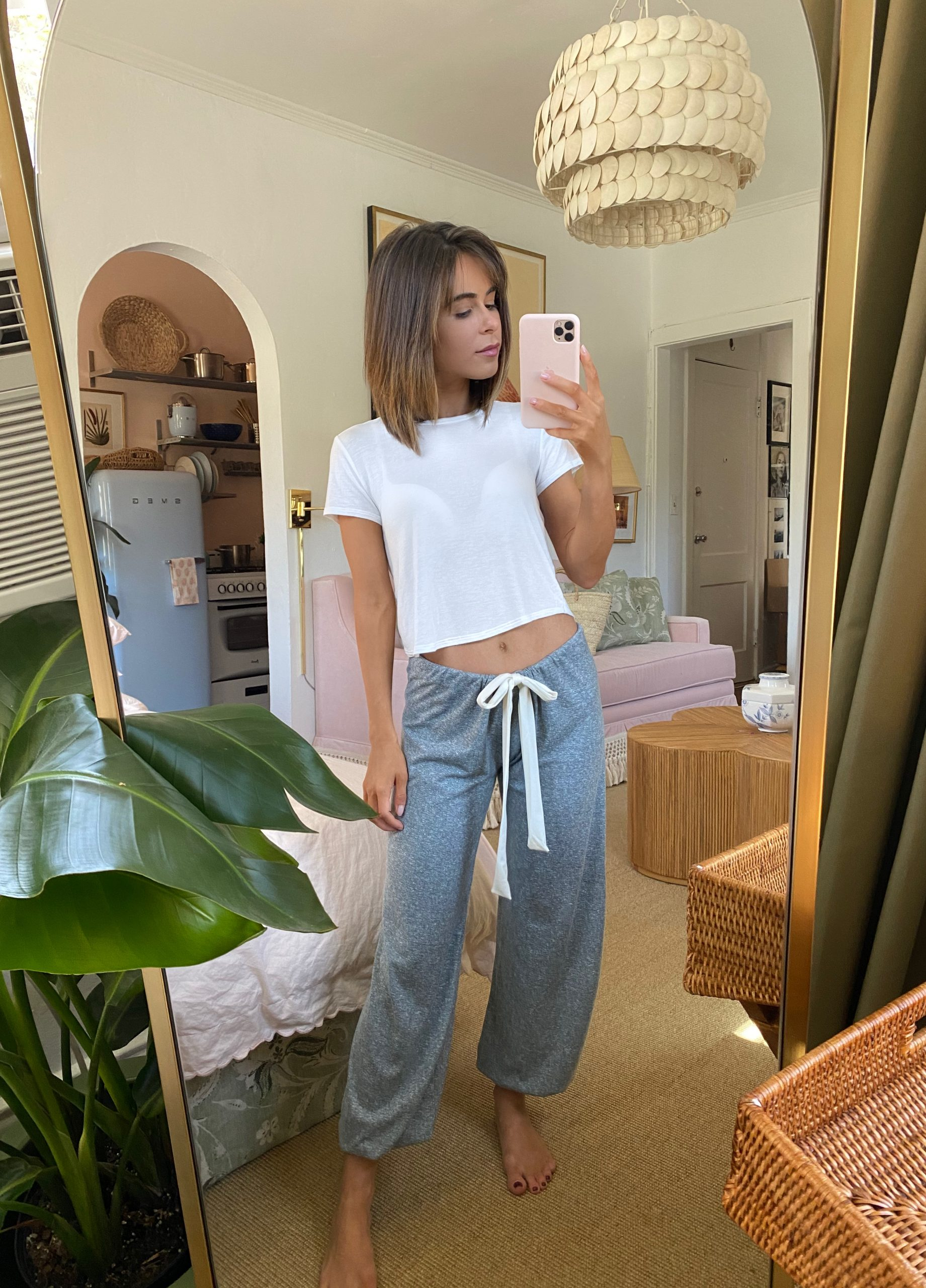 Style Blogger Stephanie Hill wears #ootd featuring Eberjey pants on The Style Bungalow