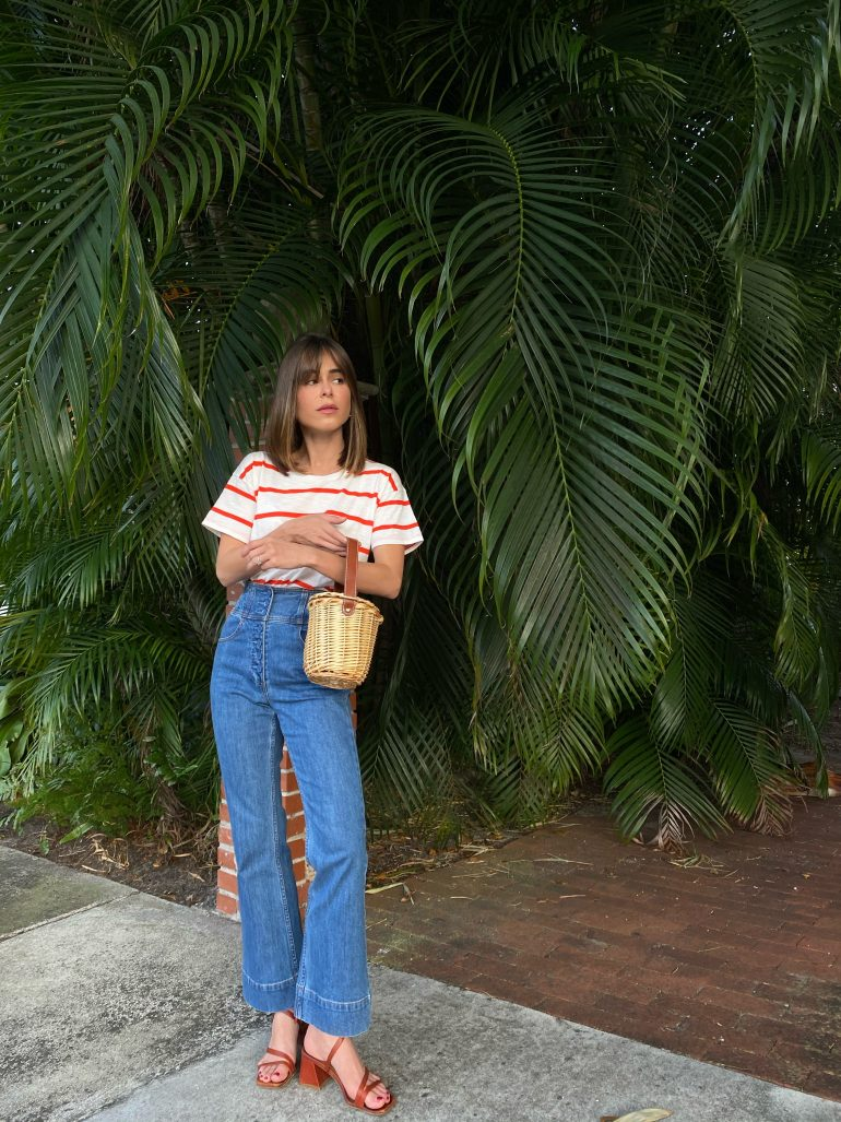 Wearing #ootd featuring Madewell blouse on The Style Bungalow by Stephanie Hill