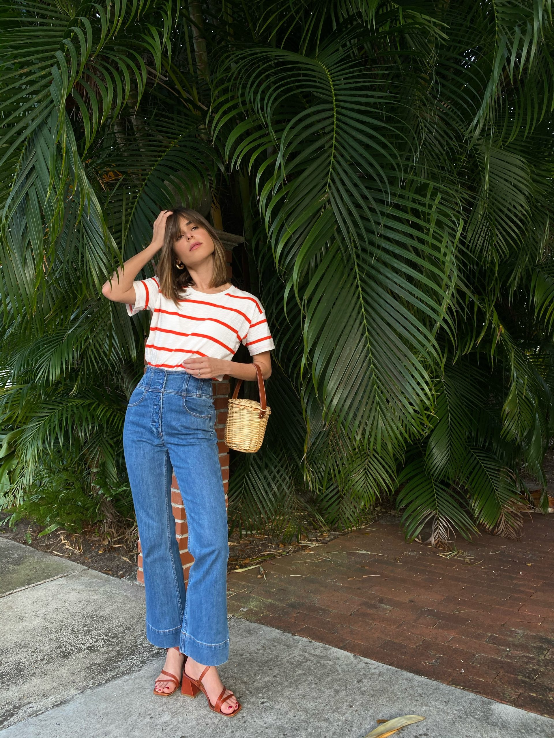 Lifestyle Blogger Stephanie Hill wears #ootd featuring Madewell blouse on The Style Bungalow