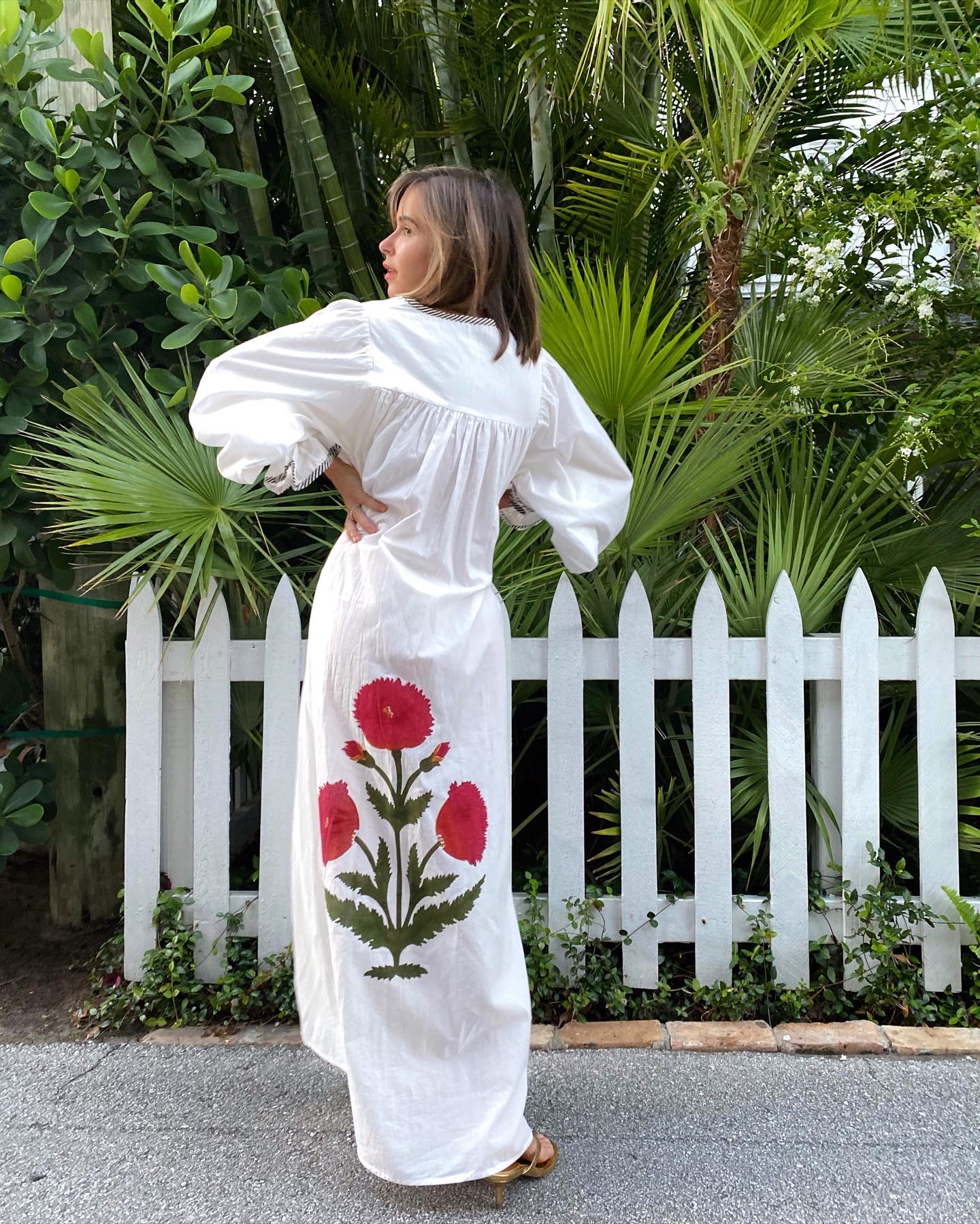 Fashion Blogger Stephanie Hill wears #ootd featuring Tallulah Rose poppy kaftan dress on The Style Bungalow