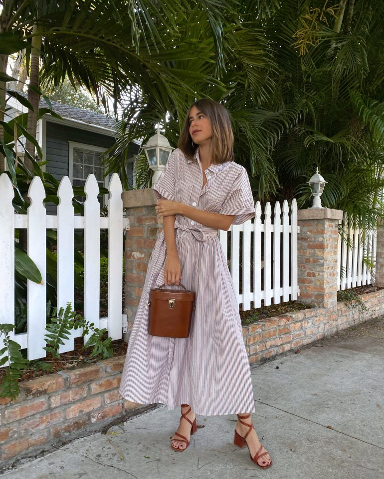 Style Blogger Stephanie Hill wears #ootd featuring a Loup Charmant dress on The Style Bungalow
