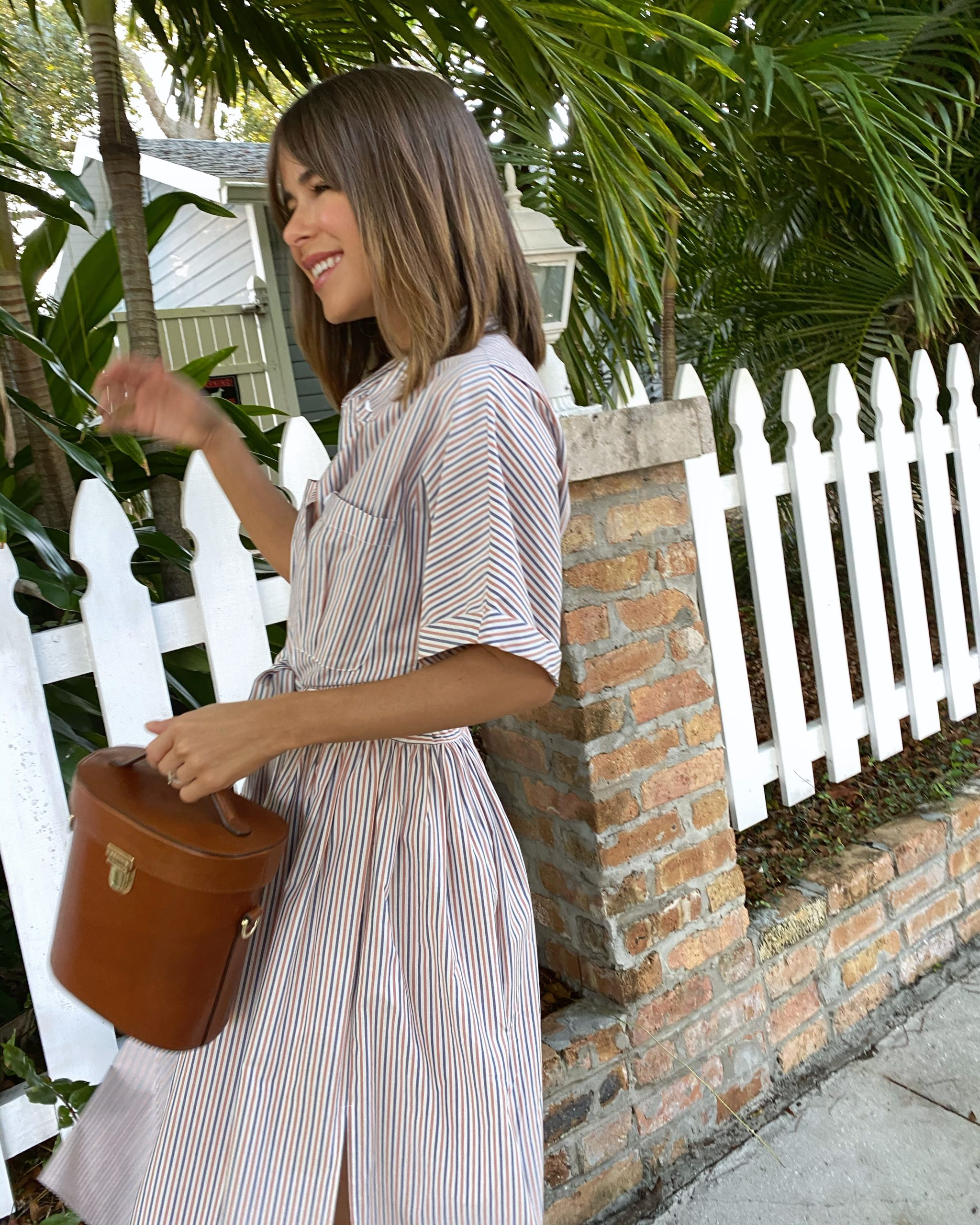Stephanie Hill wears #ootd featuring a Loup Charmant dress on The Style Bungalow