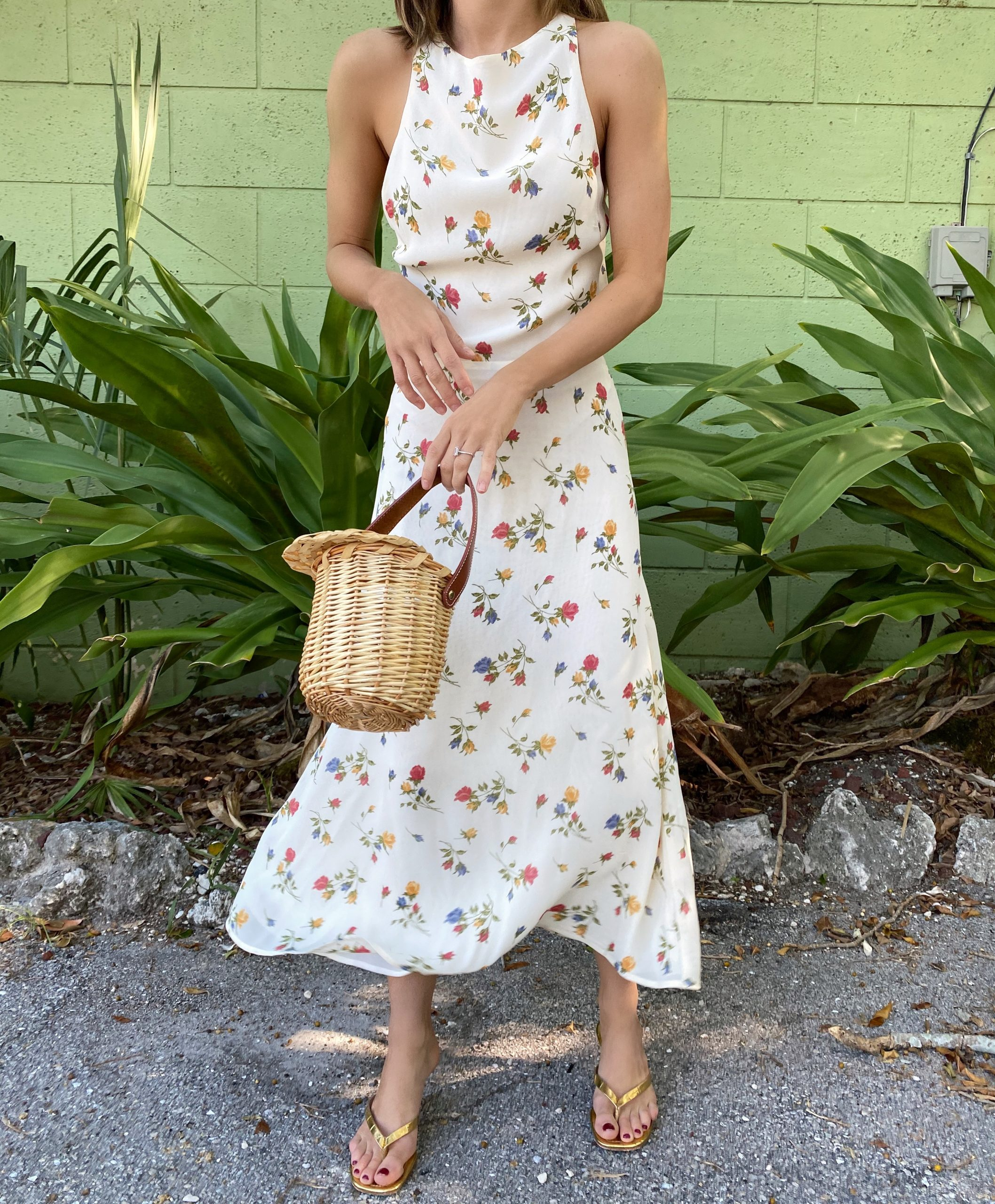 Fashion Blogger Stephanie Hill wears #ootd featuring a Reformation dress on The Style Bungalow