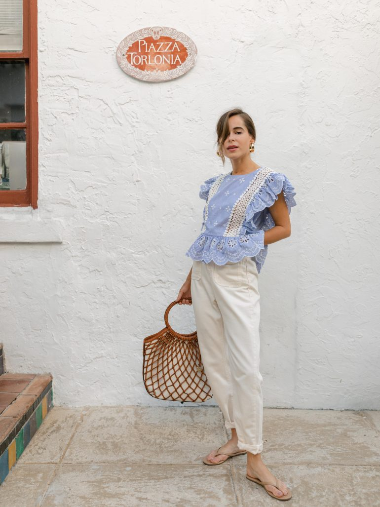 Stephanie Hill wears #ootd featuring a BB Dakota blouse on The Style Bungalow