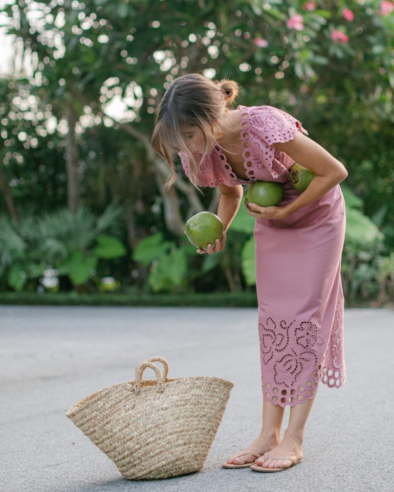 Lifestyle Blogger Stephanie Hill wears #ootd featuring Rebecca Taylor Dress on The Style Bungalow