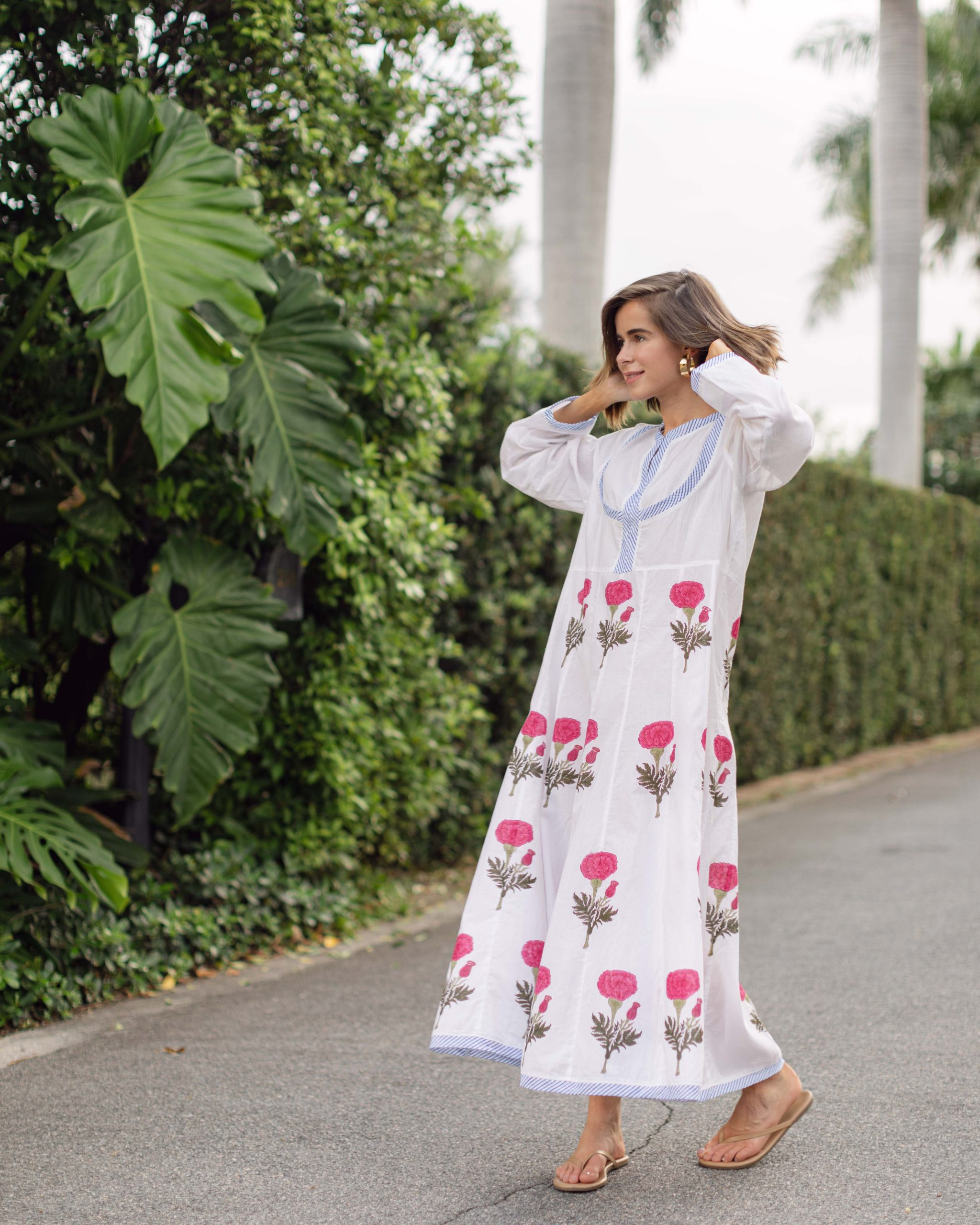 Fashion Blogger Stephanie Hill wears #ootd featuring Tallulah Rose Kaftan on The Style Bungalow