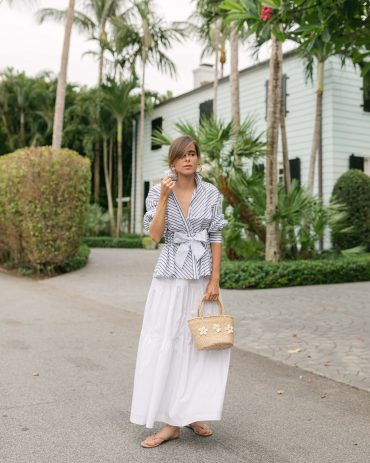 Stephanie Hill wears #ootd featuring Lela Rose on The Style Bungalow