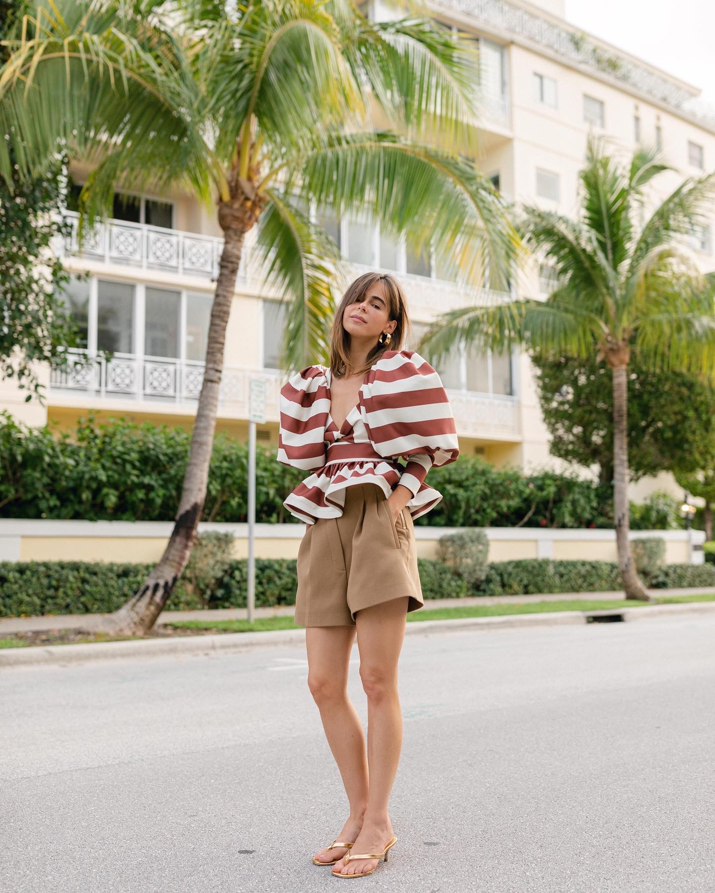 Fashion Blogger Stephanie Hill wears #ootd featuring Eugenia Fernandez blouse on The Style Bungalow
