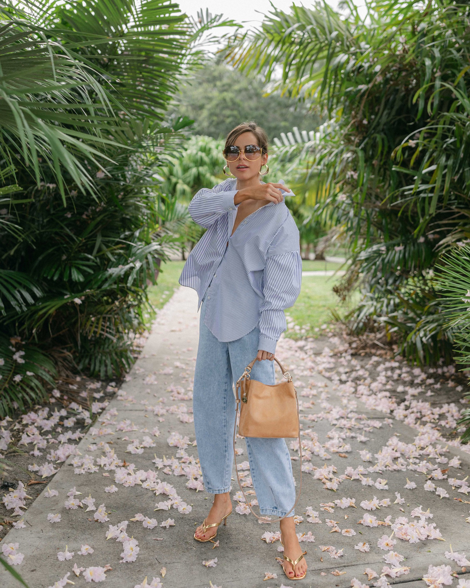 Stephanie Hill wears #ootd featuring Sezane blouse on The Style Bungalow