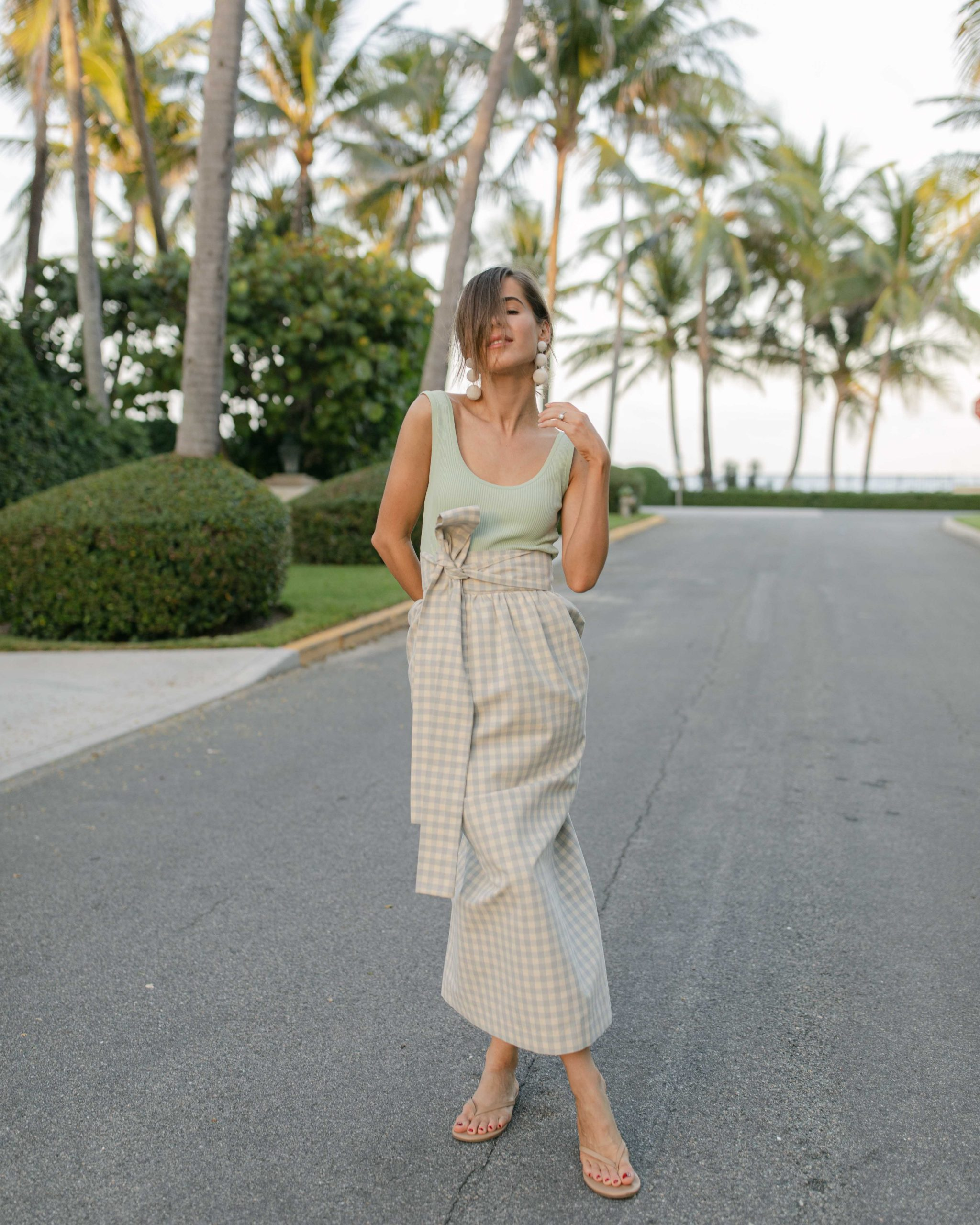 Fashion Blogger Stephanie Hill wearing a Style Bungalow custom skirt on The Style Bungalow