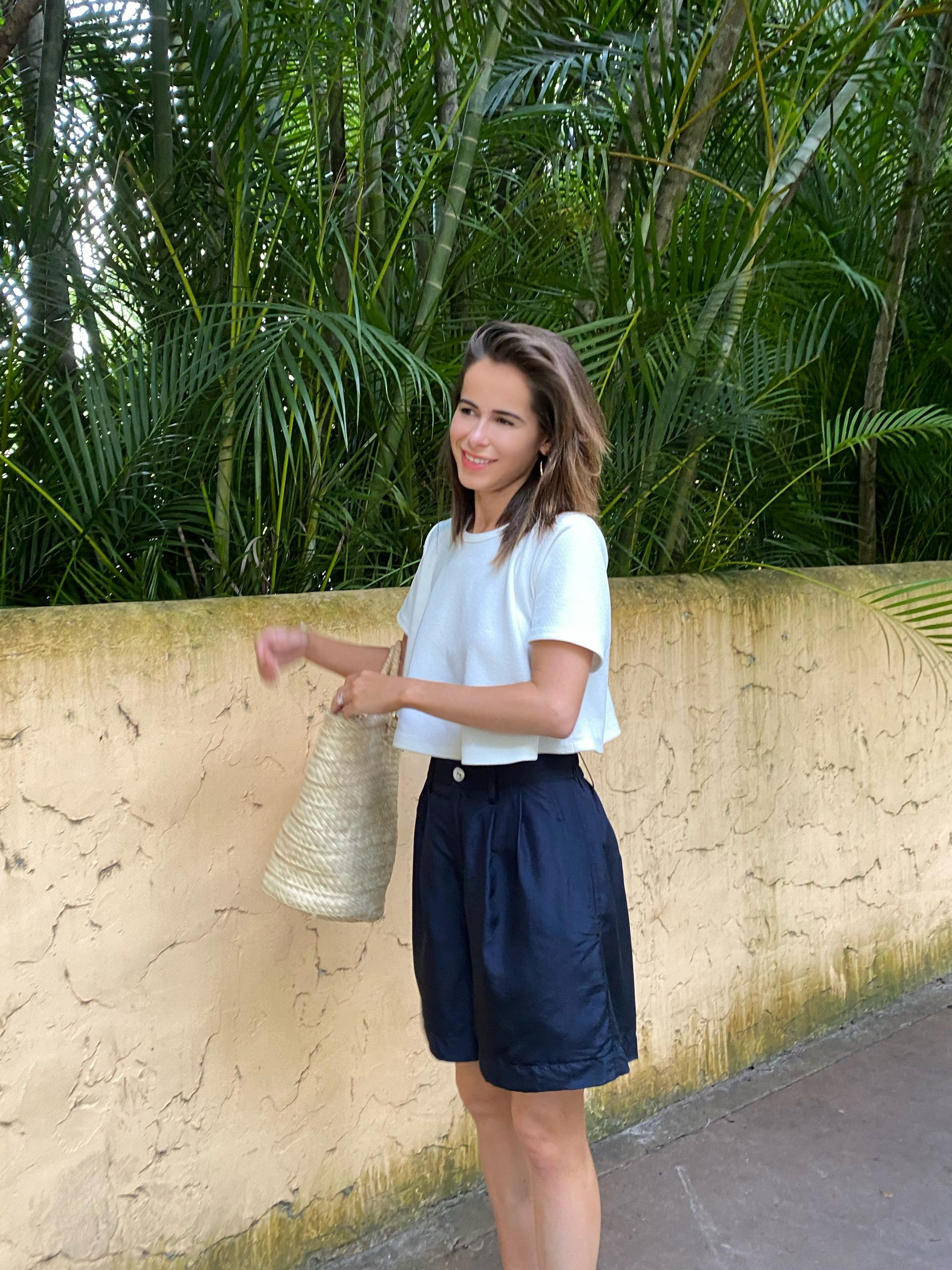 Fashion Blogger Stephanie Hill wears a Ronny Kobo top on The Style Bungalow