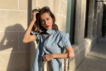 Style Blogger Stephanie Hill wears #ootd featuring a handbag from Brahmin on The Style Bungalow