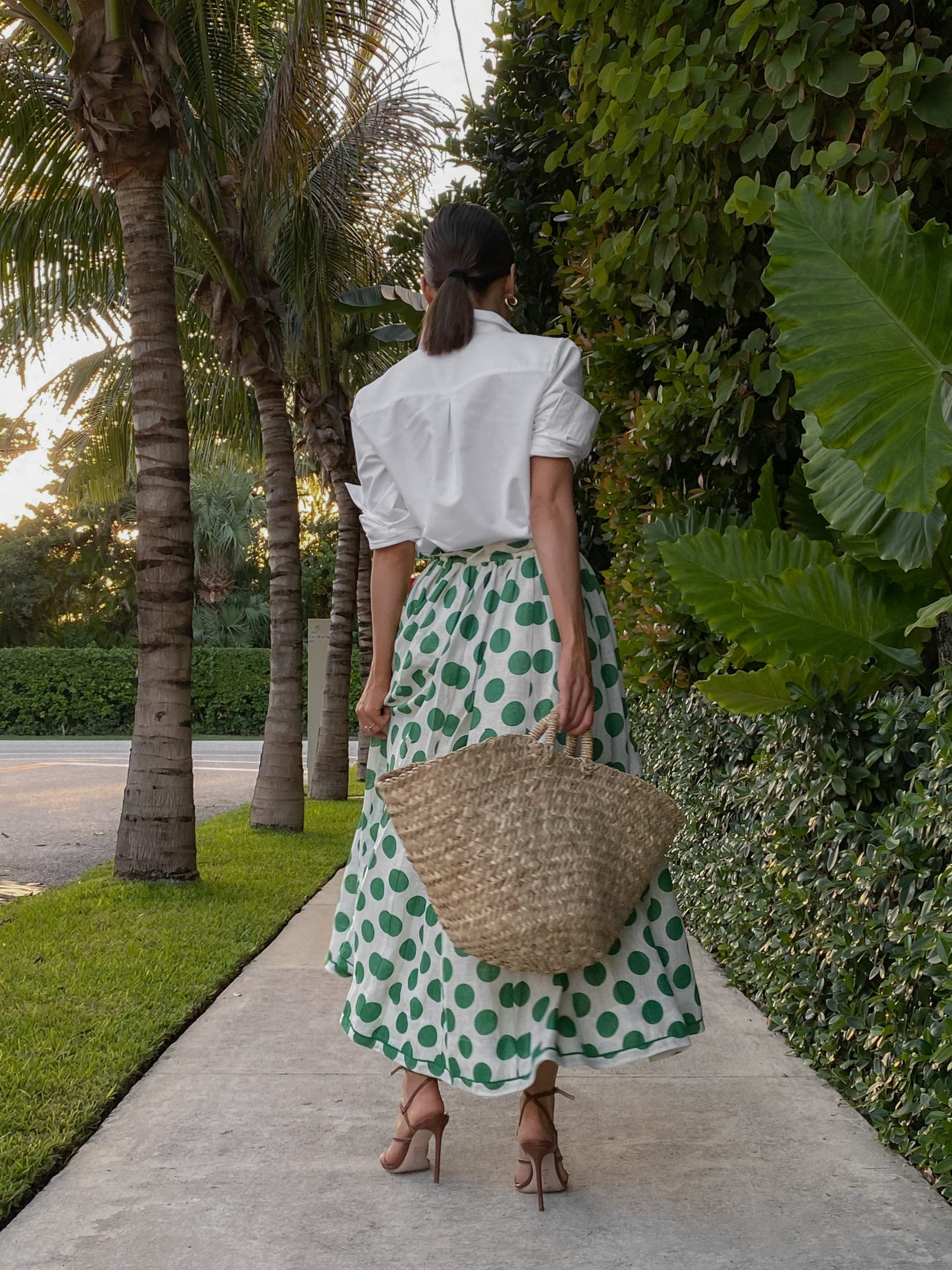 Fashion Blogger Stephanie Hill wears #ootd featuring a Zimmermann midi skirt on The Style Bungalow